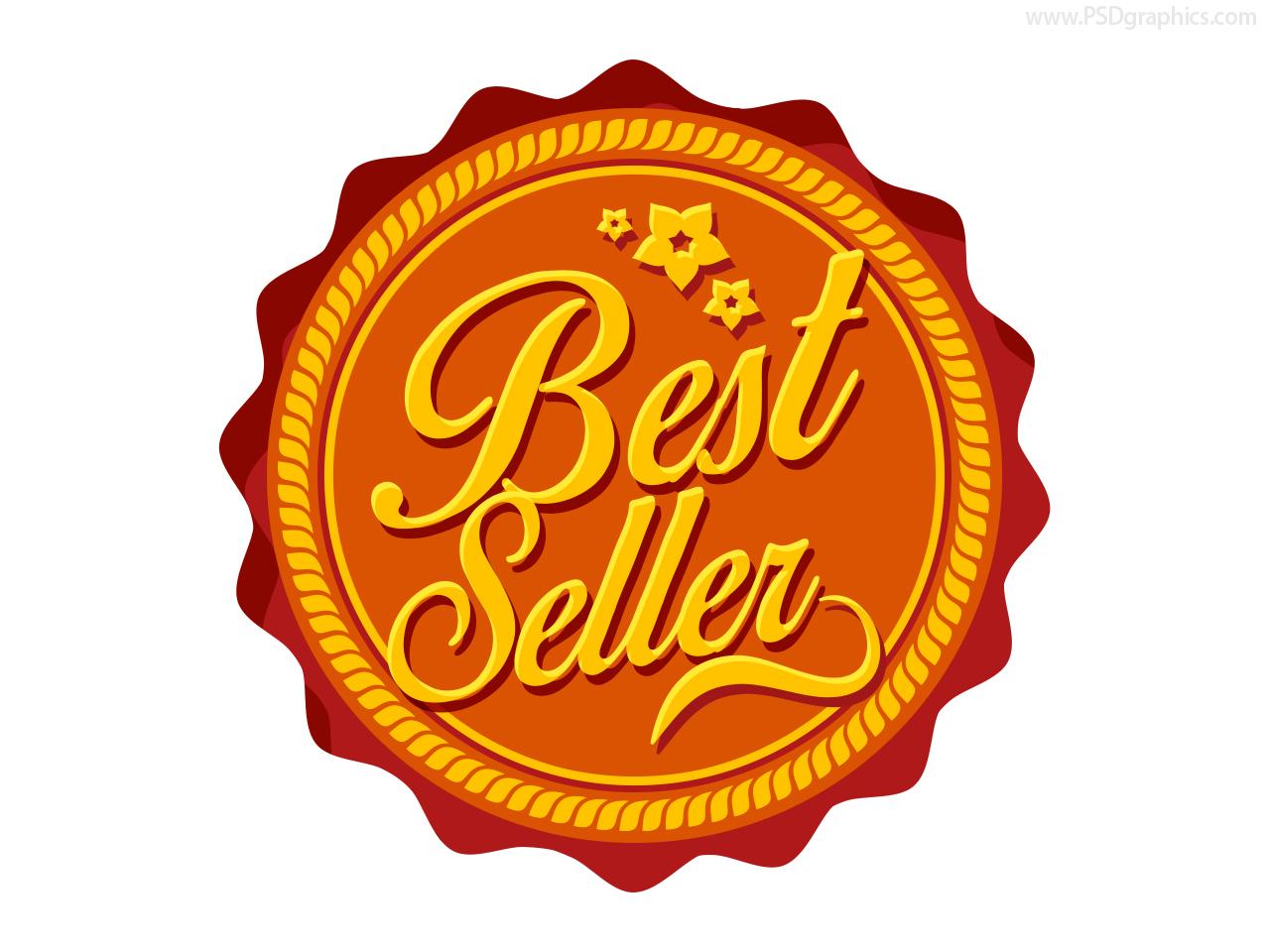 Best seller label PSD – Label