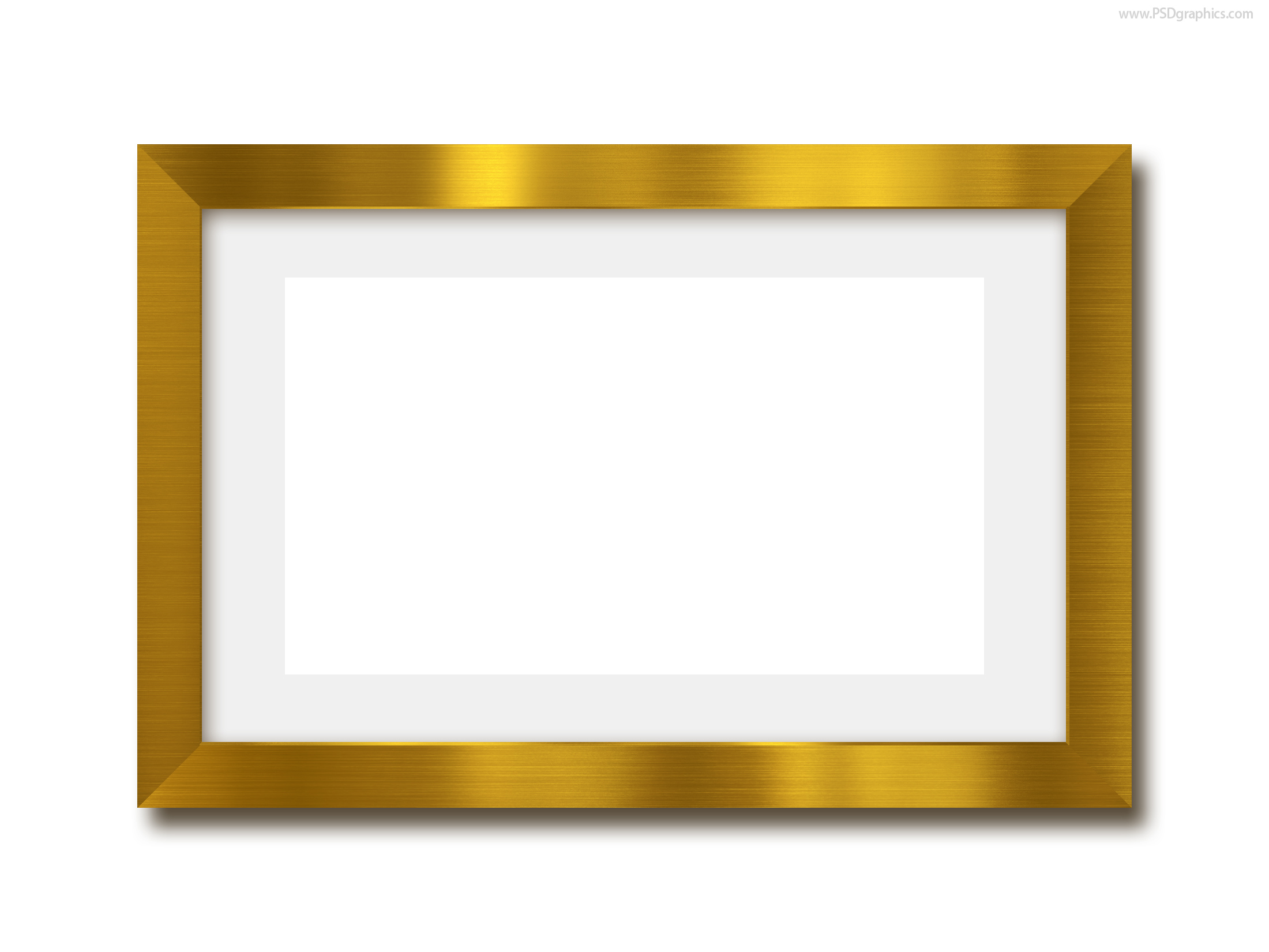 Gold photo frame PSD template | PSDGraphics