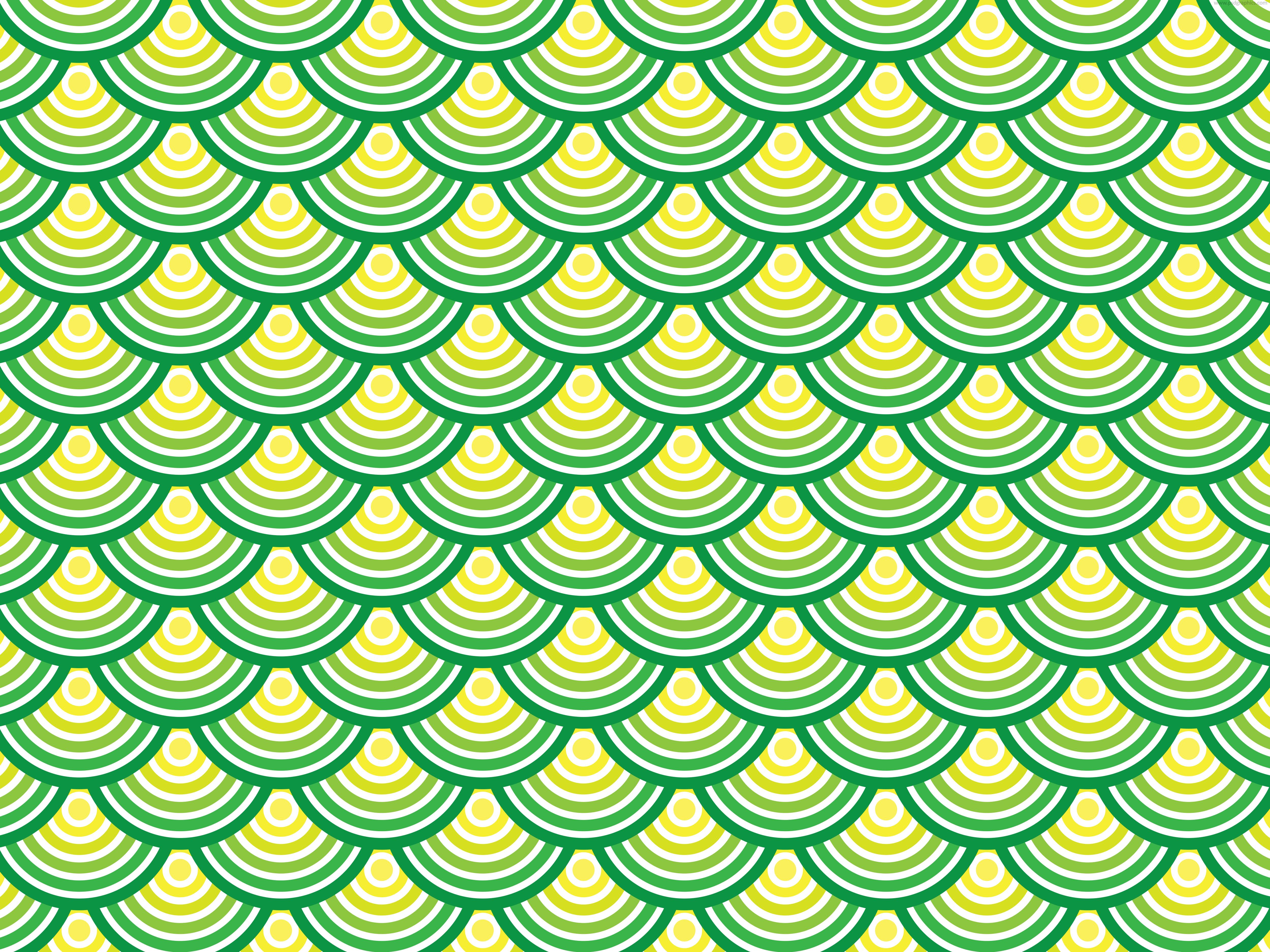 Green circles pattern