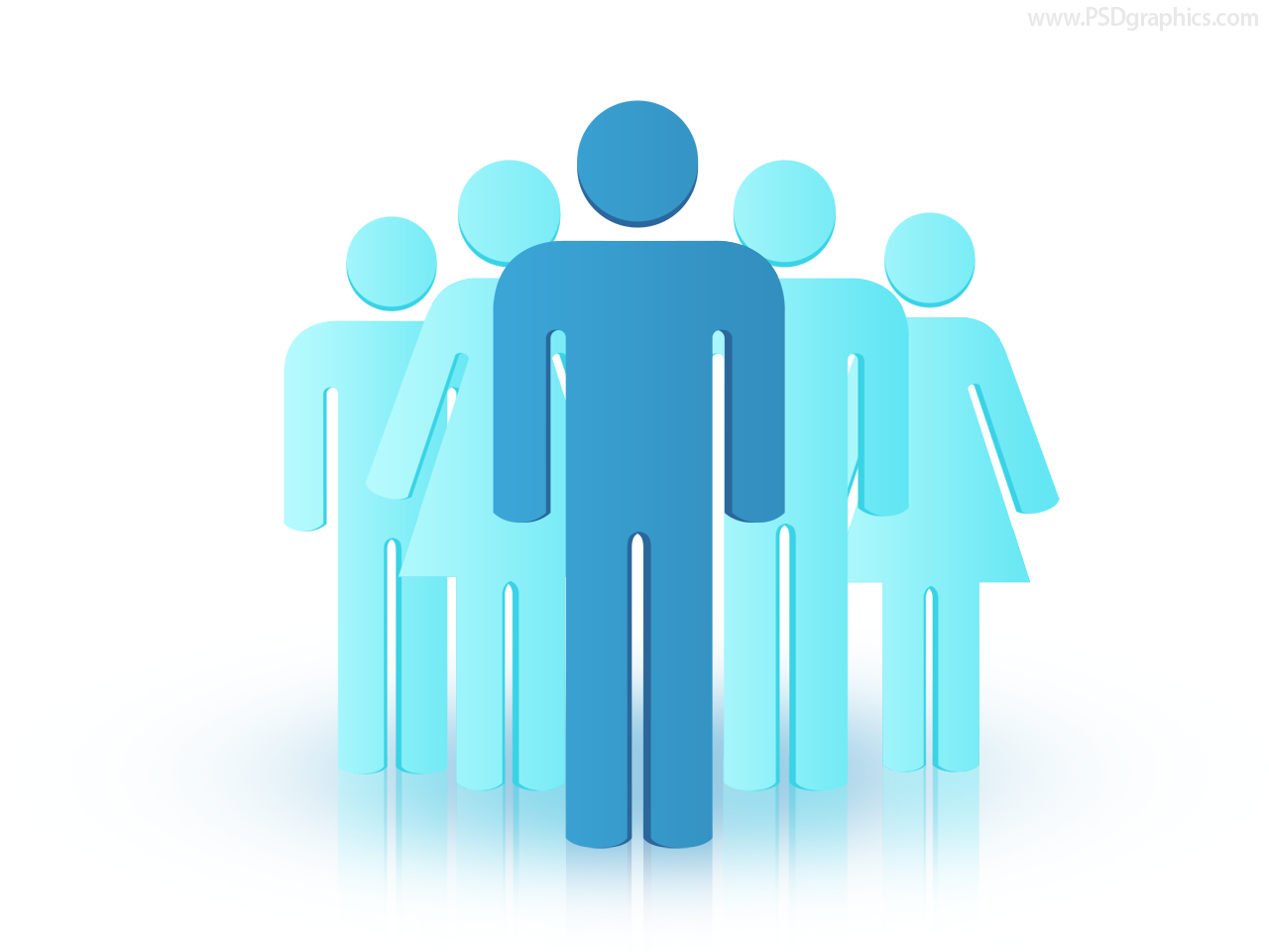 Group of people business illustration (PSD) - PSDfinder.co