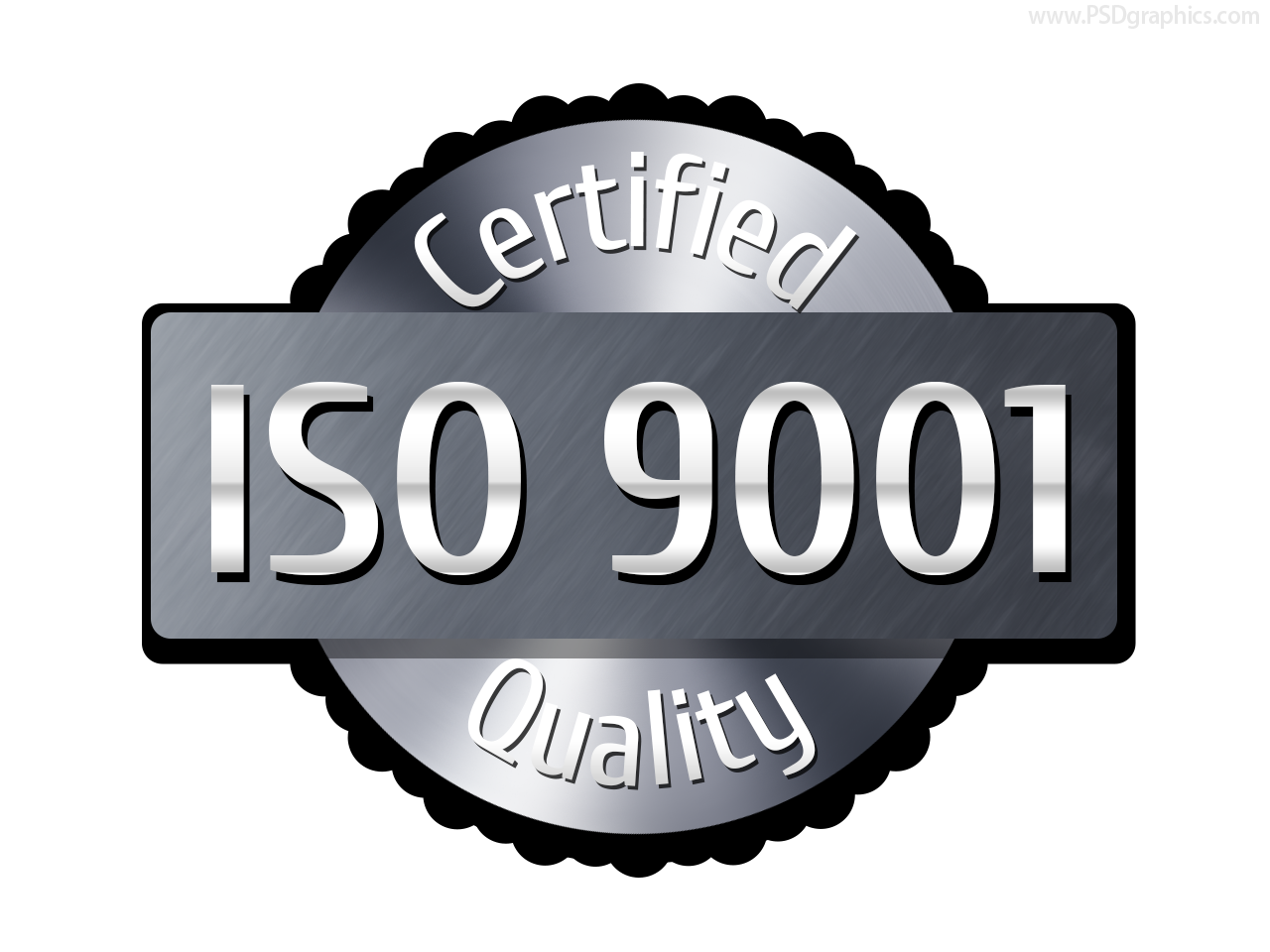 ISO 9001 label (PSD) | PSDGraphics