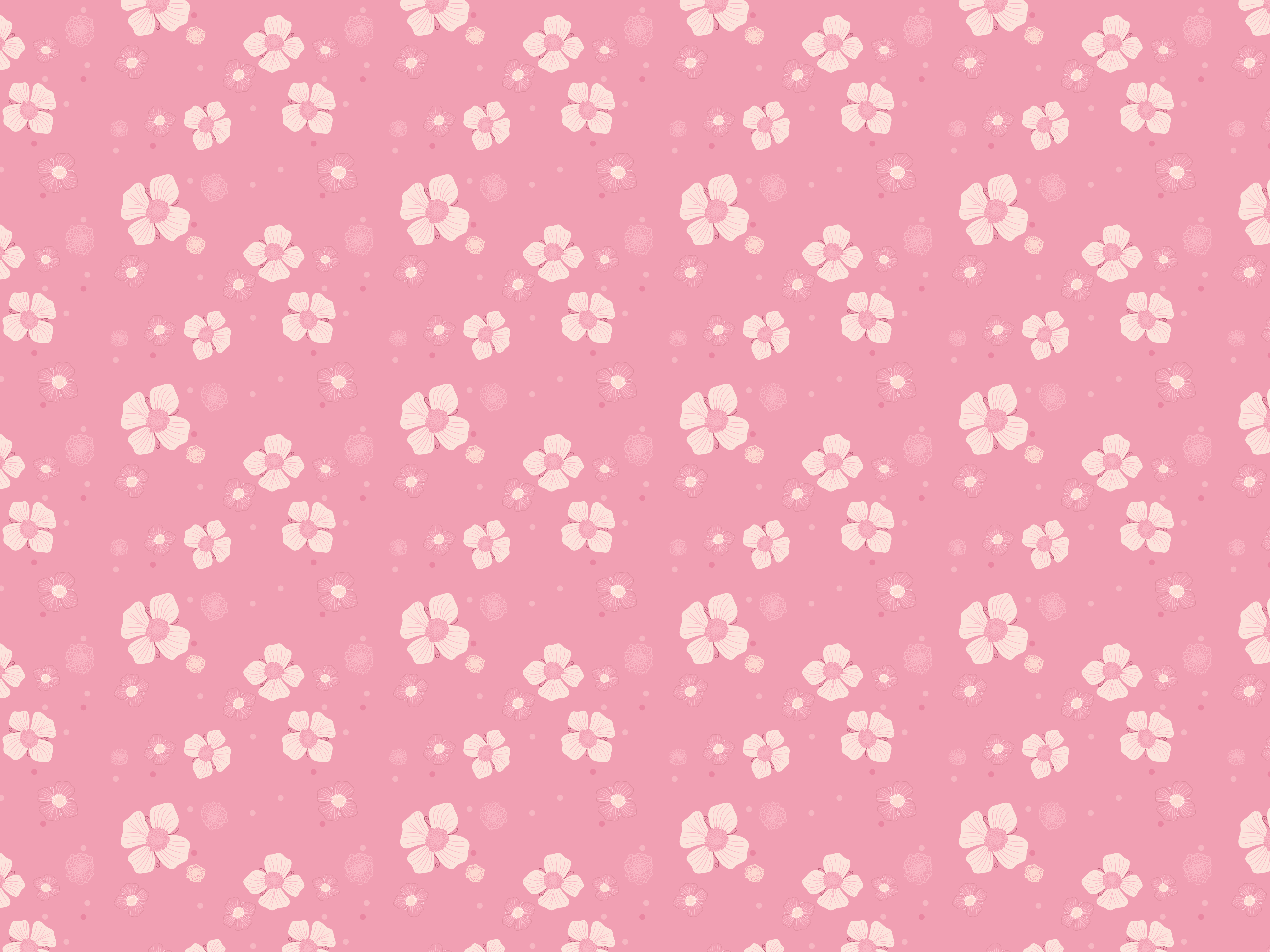 Pink Flowers Pattern Vector Psdgraphics