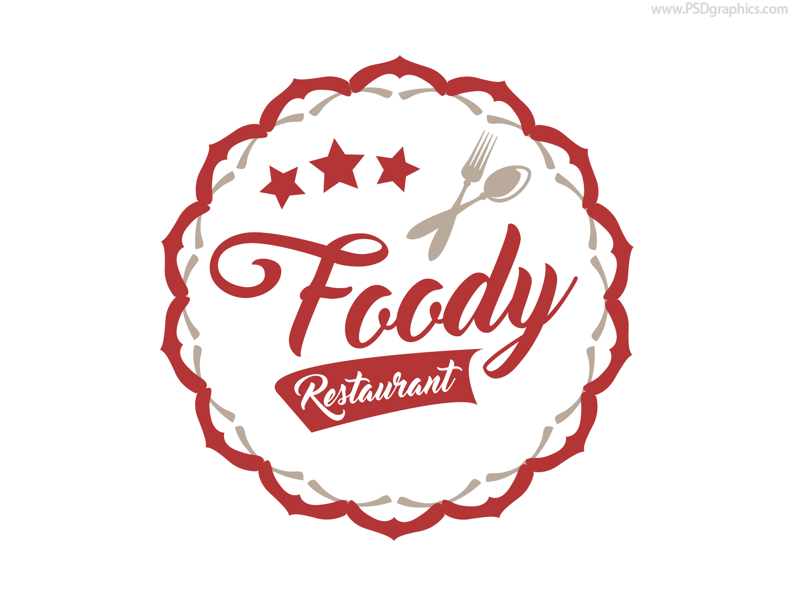 restaurant label or logo, ai and psd | psdgraphics