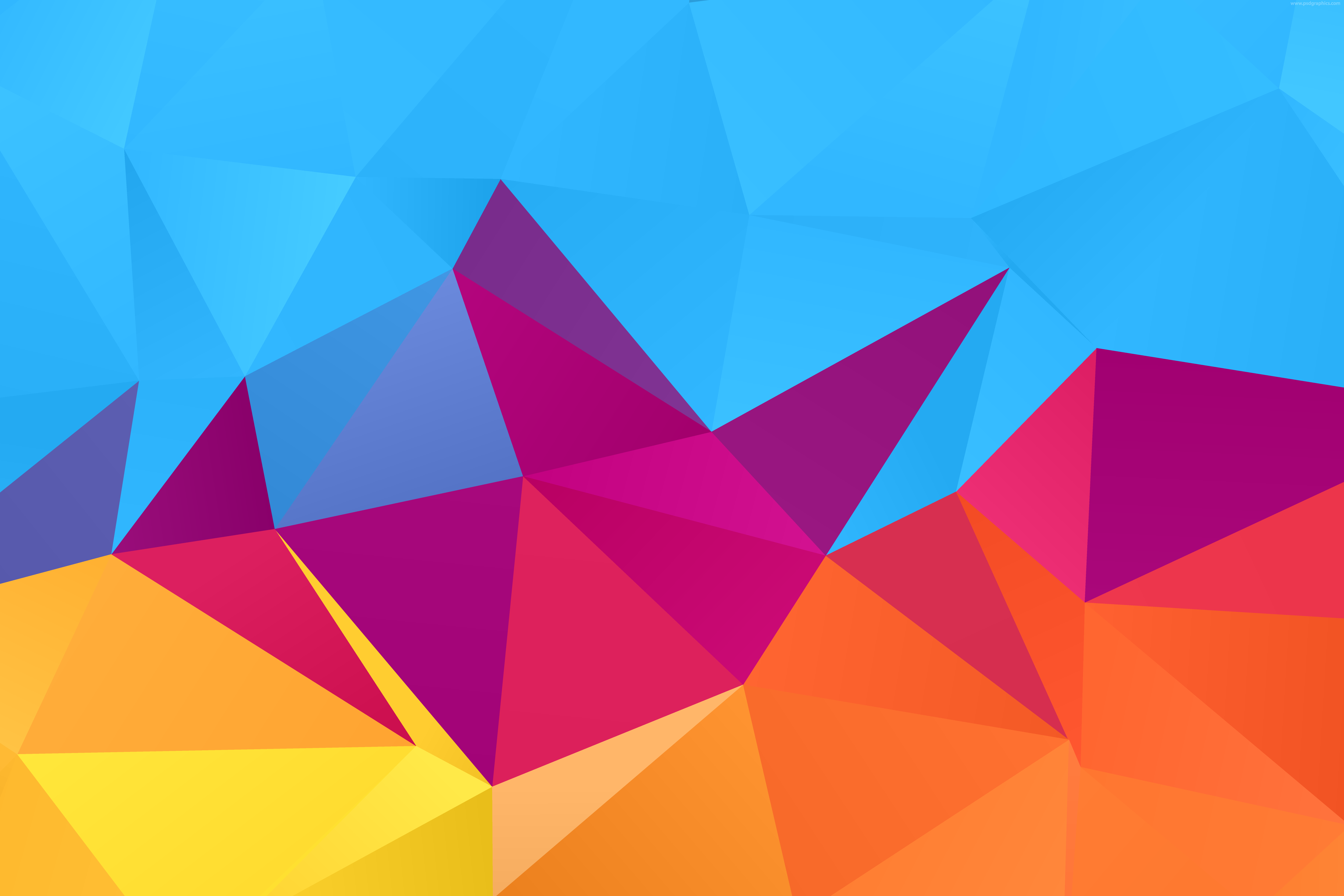 Free Colorful Geometric Wallpaper: Abstract Geometric Background (vector)