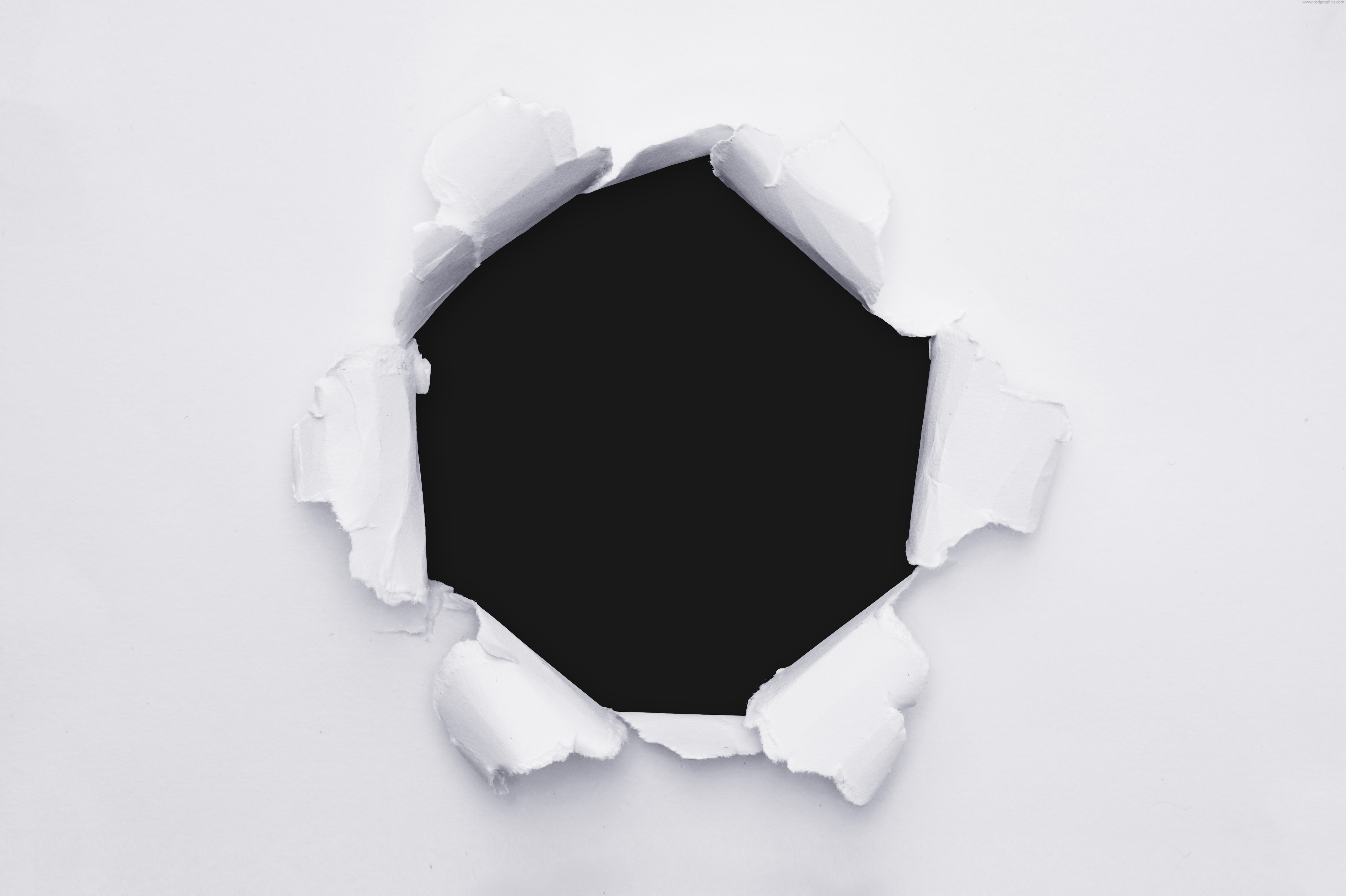 transparent hole in paper (png) | psdgraphics
