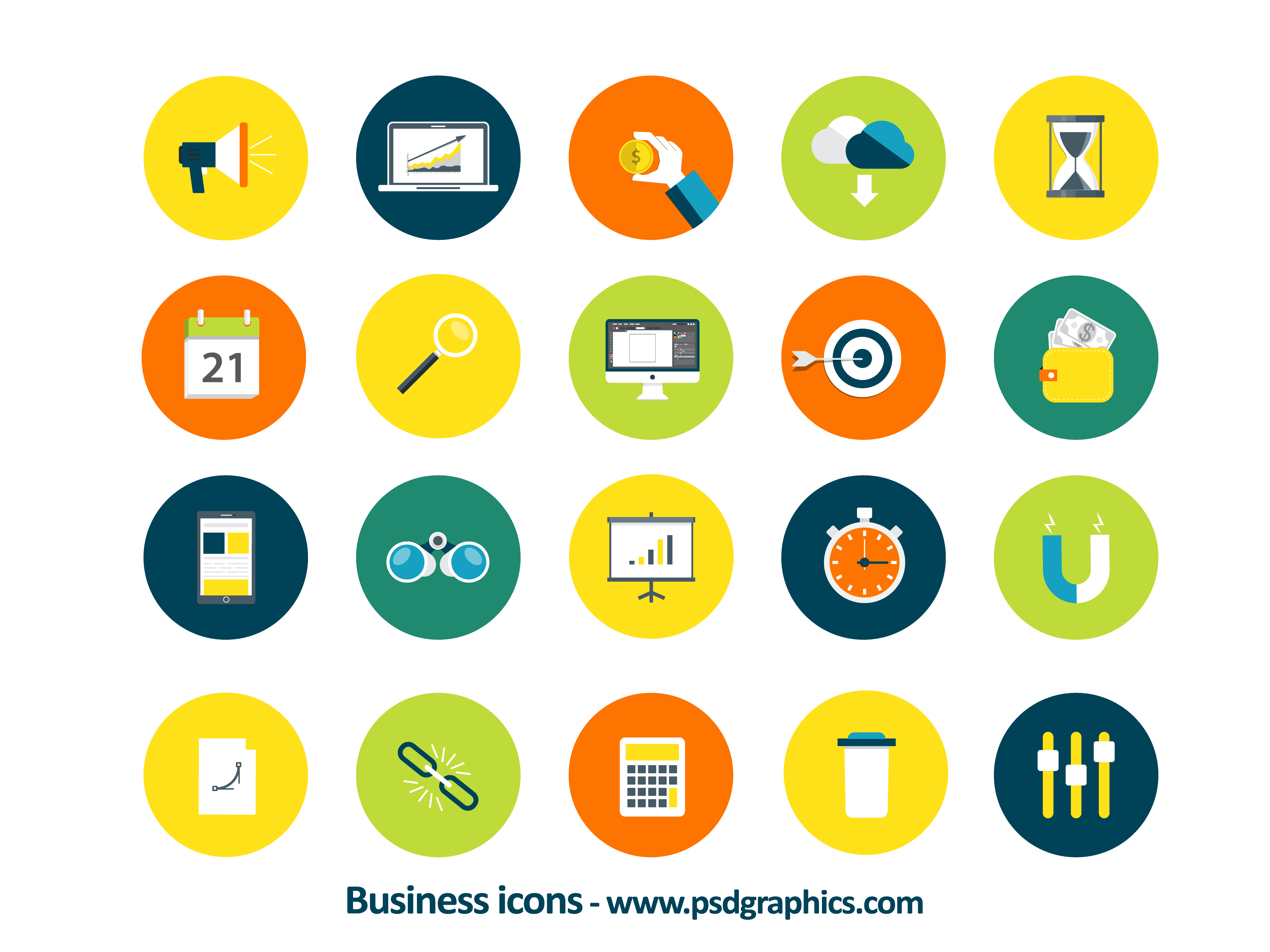 business icons vector psdgraphics