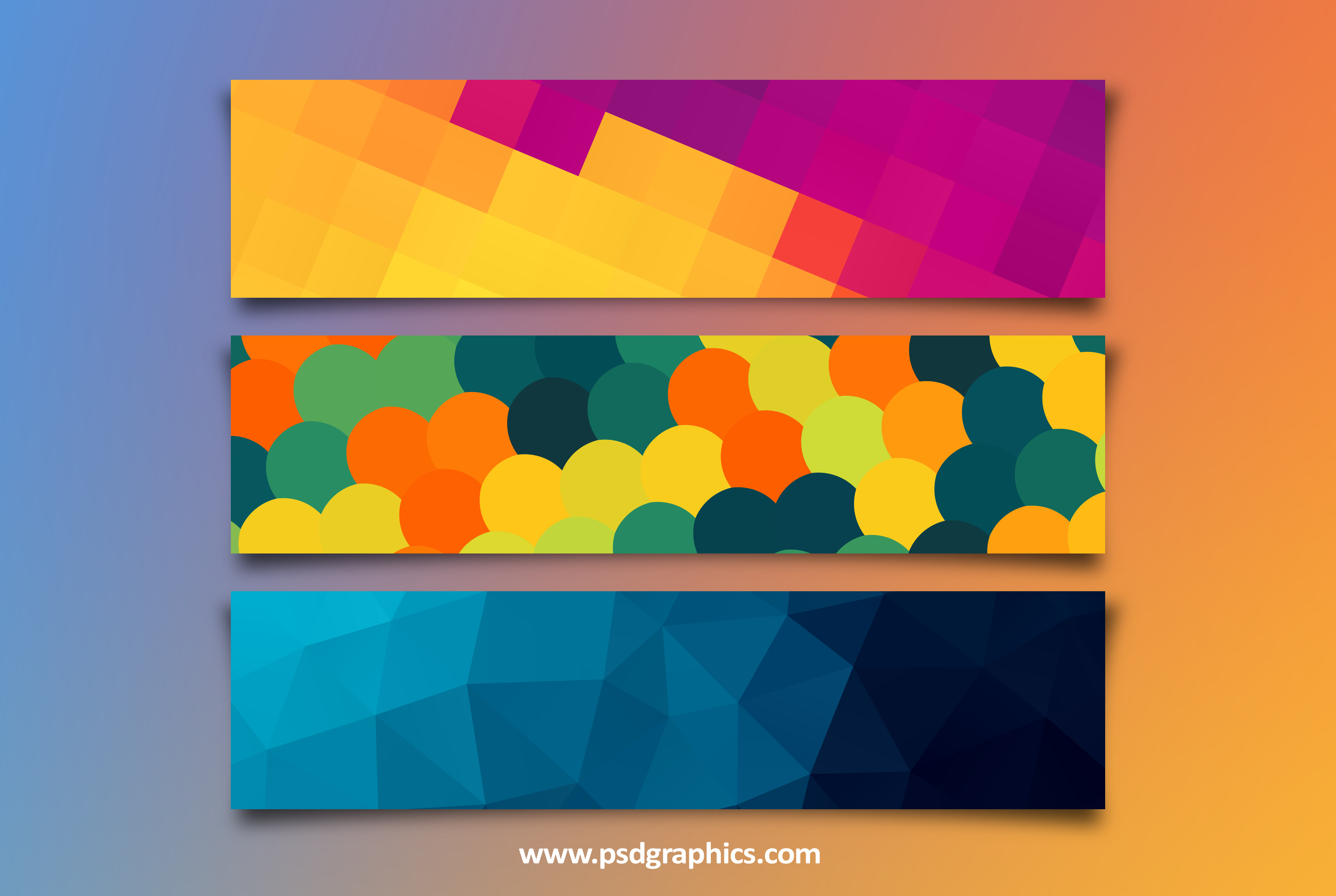 Colorful banners templates (PSD) | PSDGraphics
