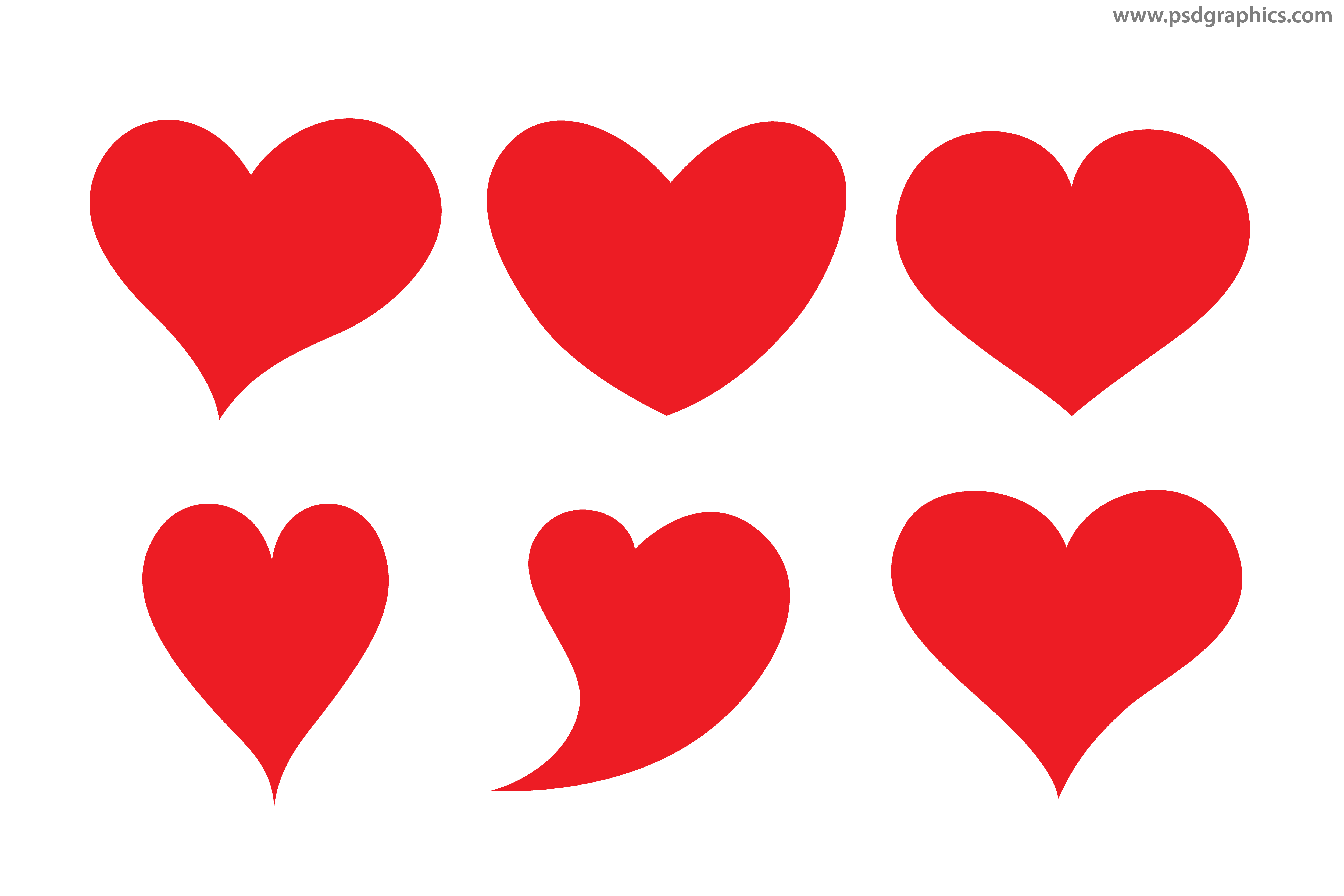 vector hearts shapes psdgraphics rh psdgraphics com vector heart art vector heartworm