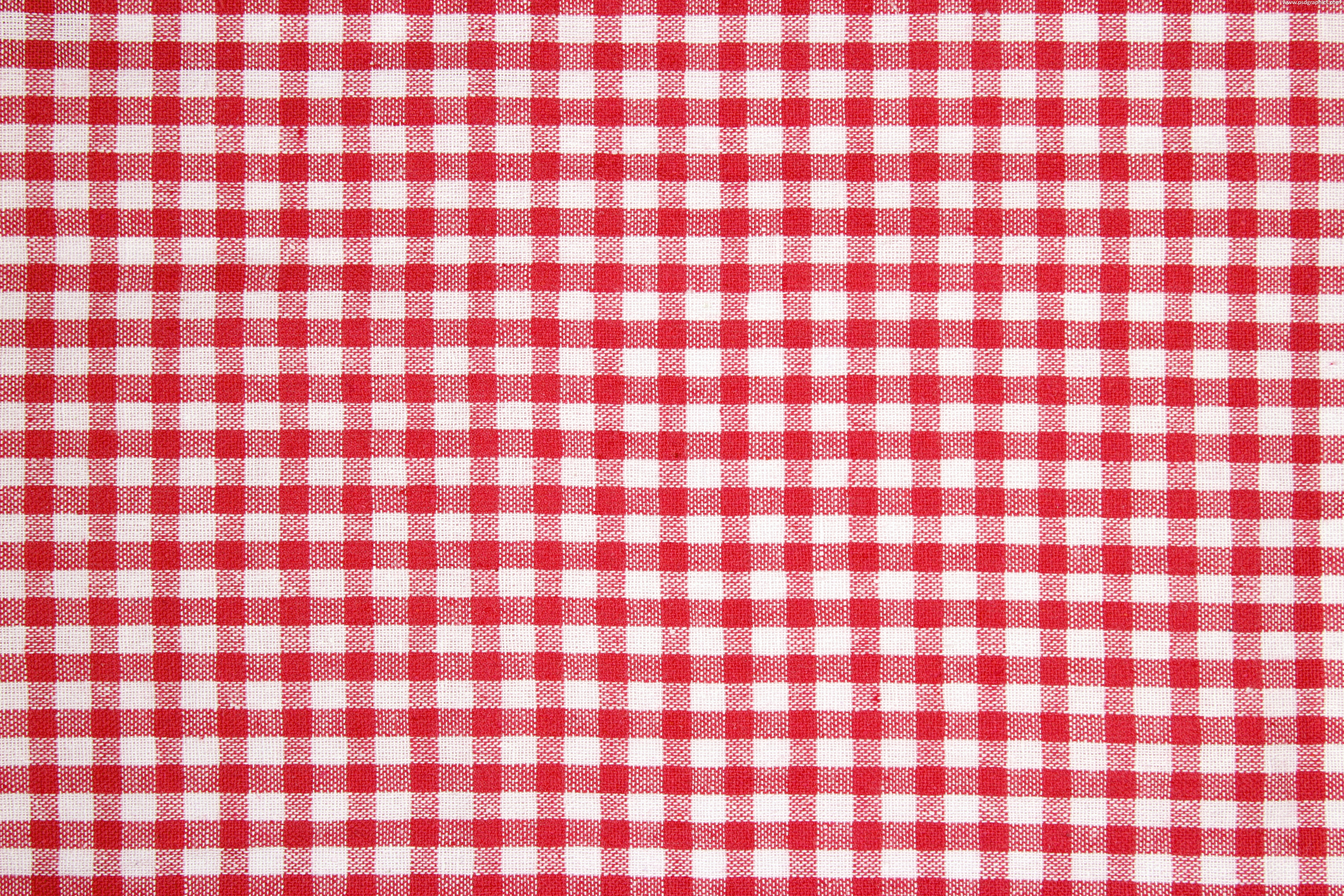 Beautiful Red And White Tablecloth