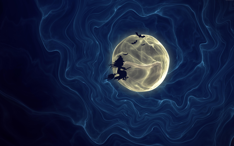 Spooky moon wallpaper PSDGraphics