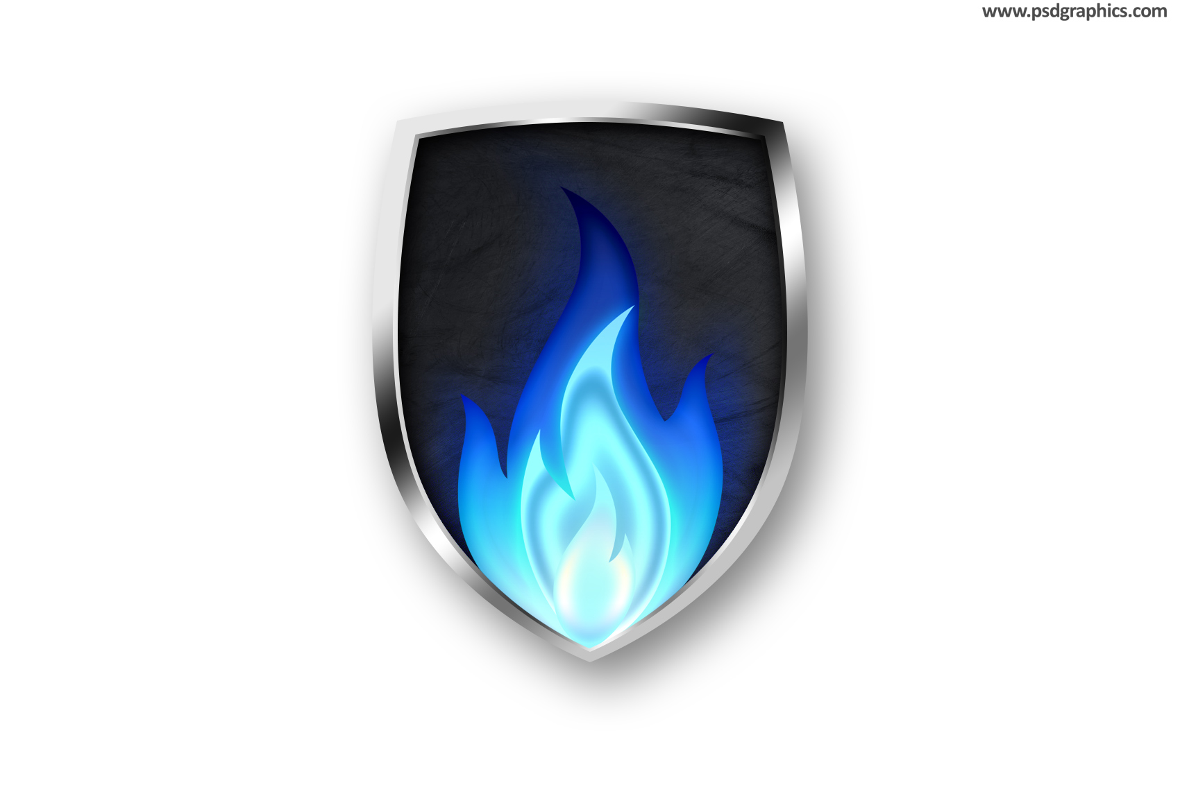 Fire shield icon psd psdgraphics similar or related graphic blank shields psd templates maxwellsz