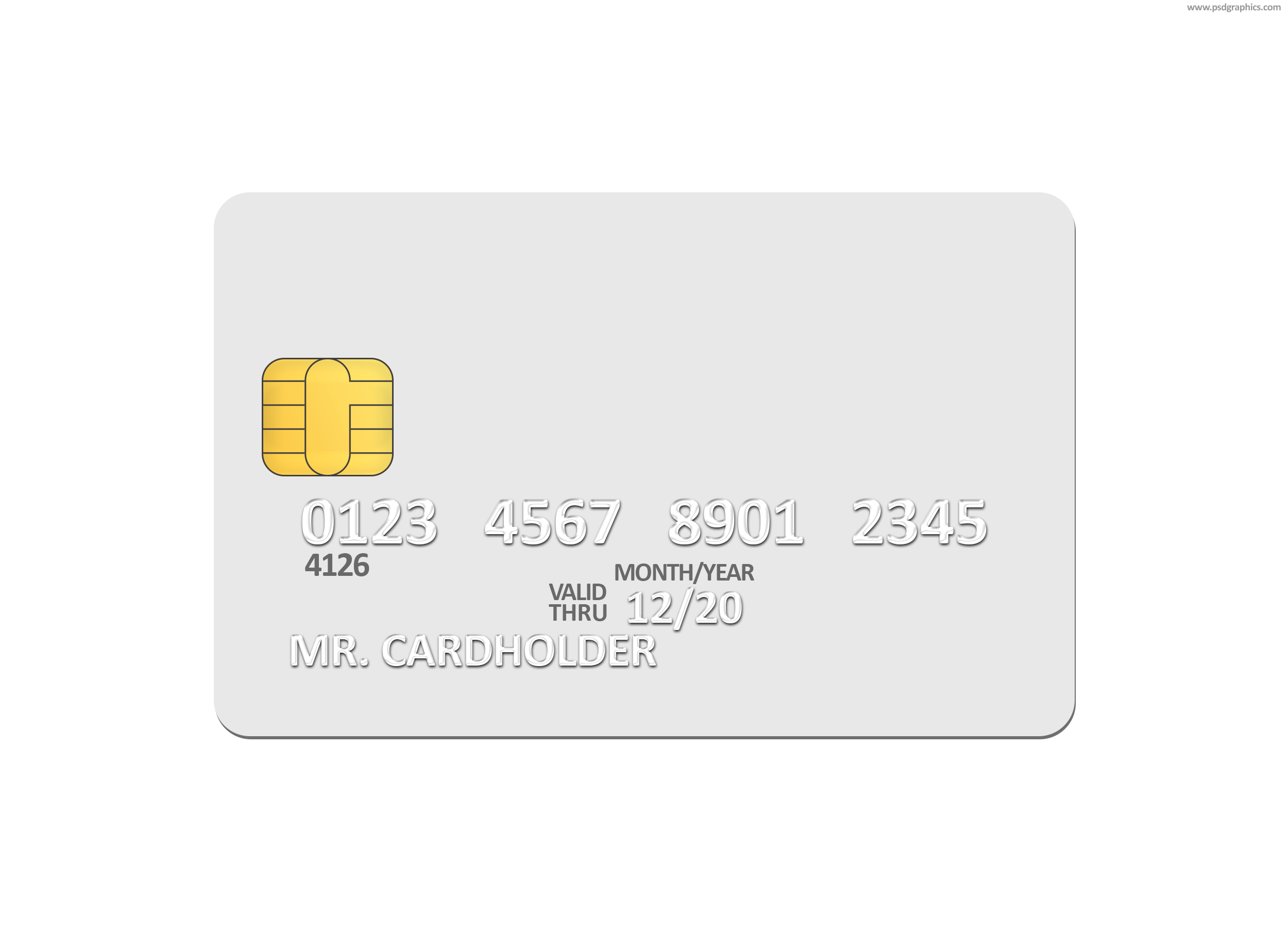 blank white credit card psd template psdgraphics