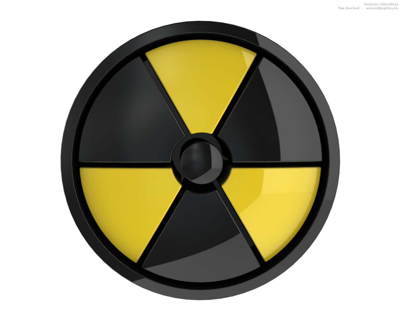 3D radiation sign and ... Radiation Sign