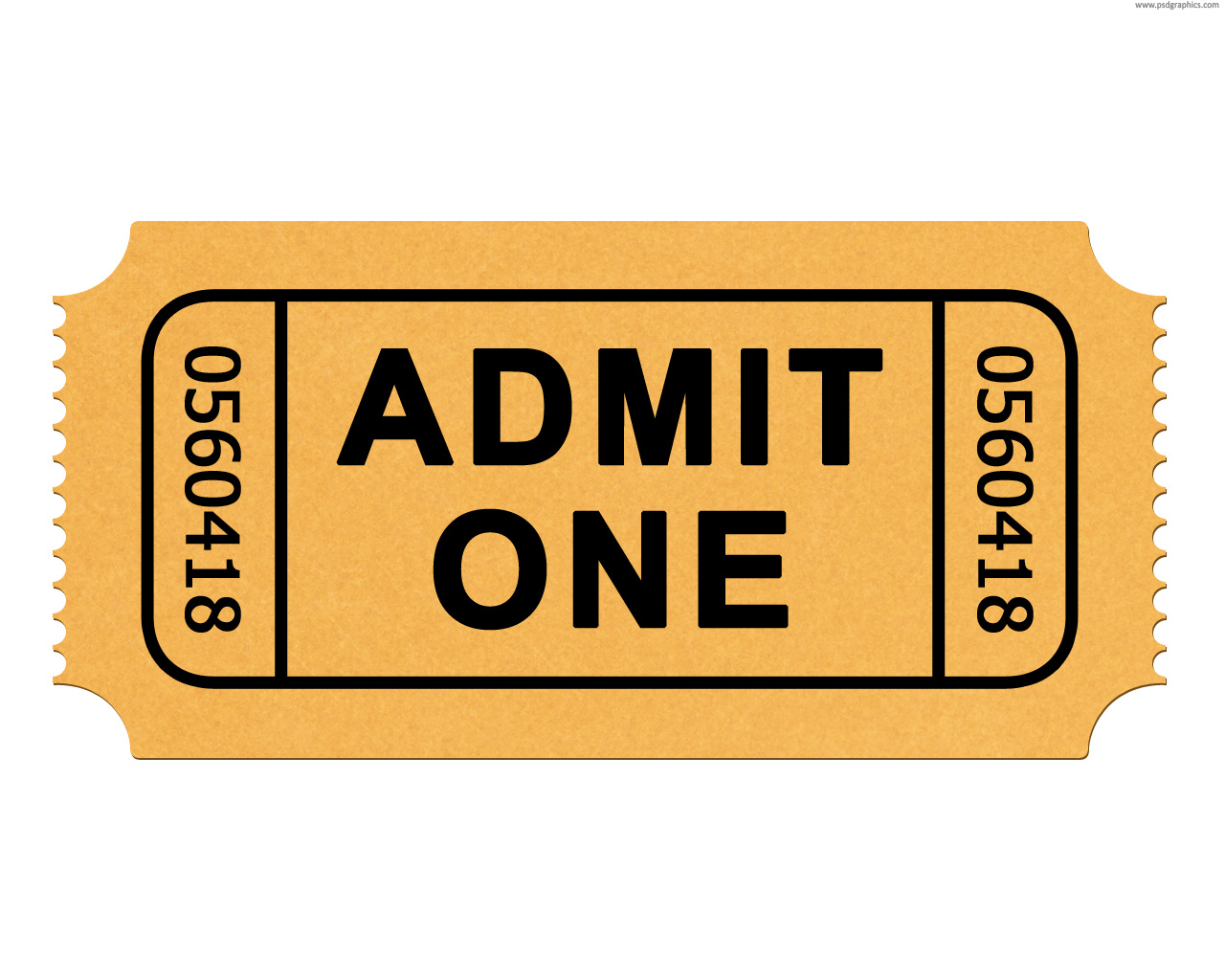 Admission ticket PSD – Theatre Ticket Template