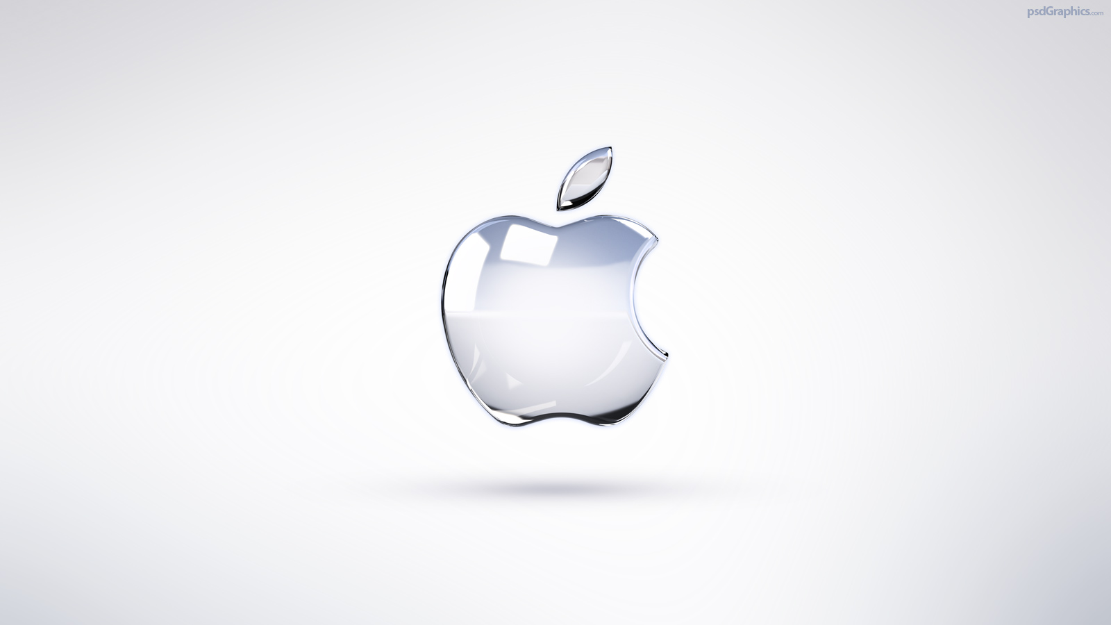 bright apple logo wallpaper psdgraphics