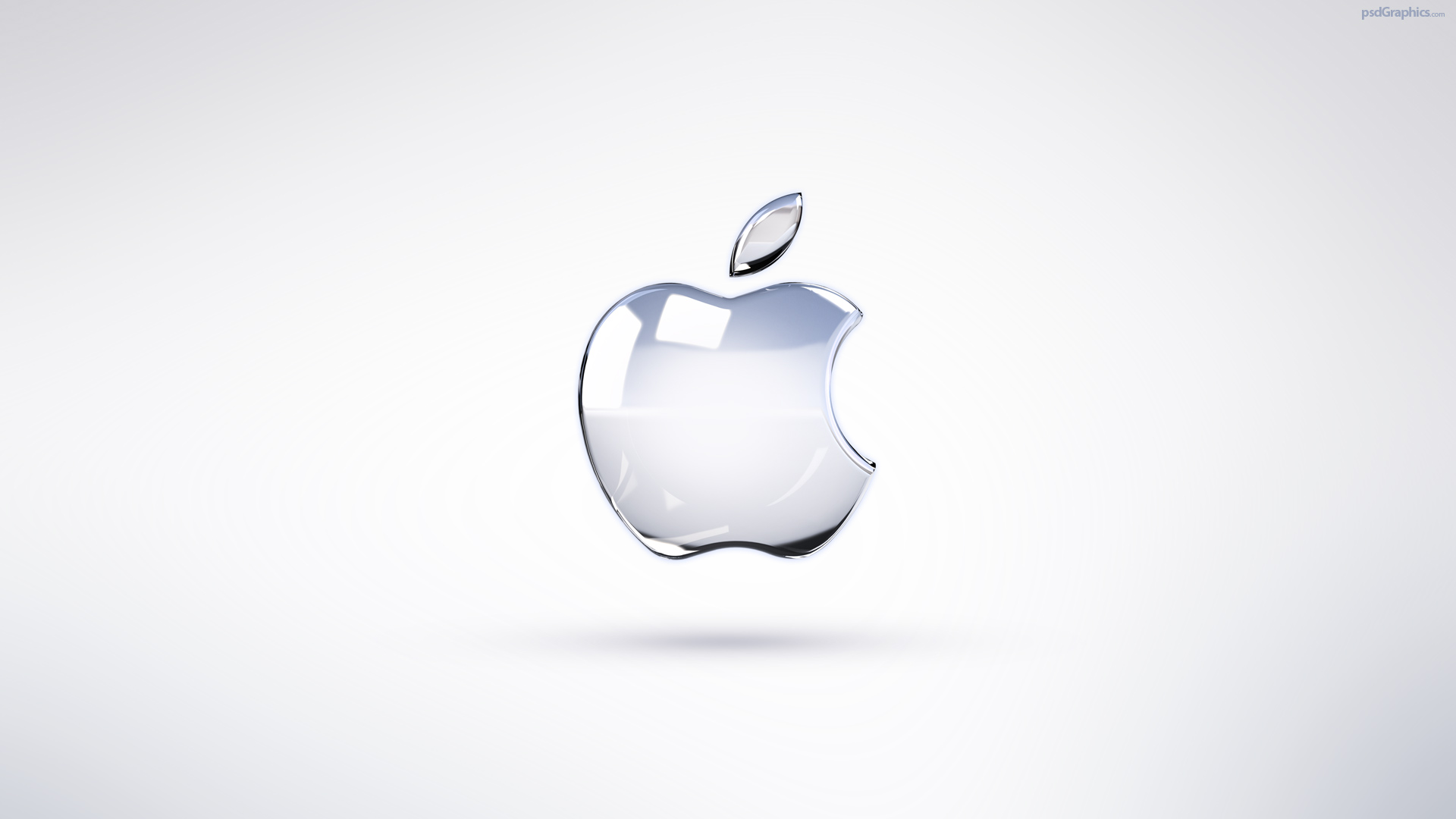 bright apple logo wallpaper | psdgraphics