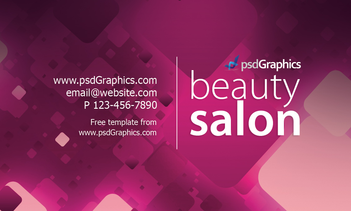 Beauty salon business card template | PSDGraphics