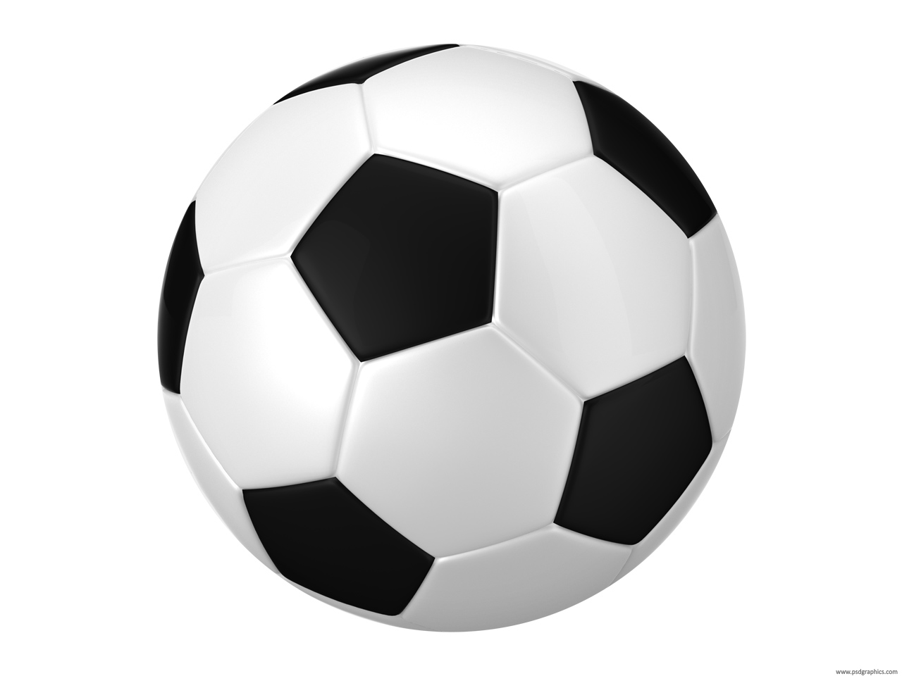 Black And White Football Soccer Balls Psdgraphics