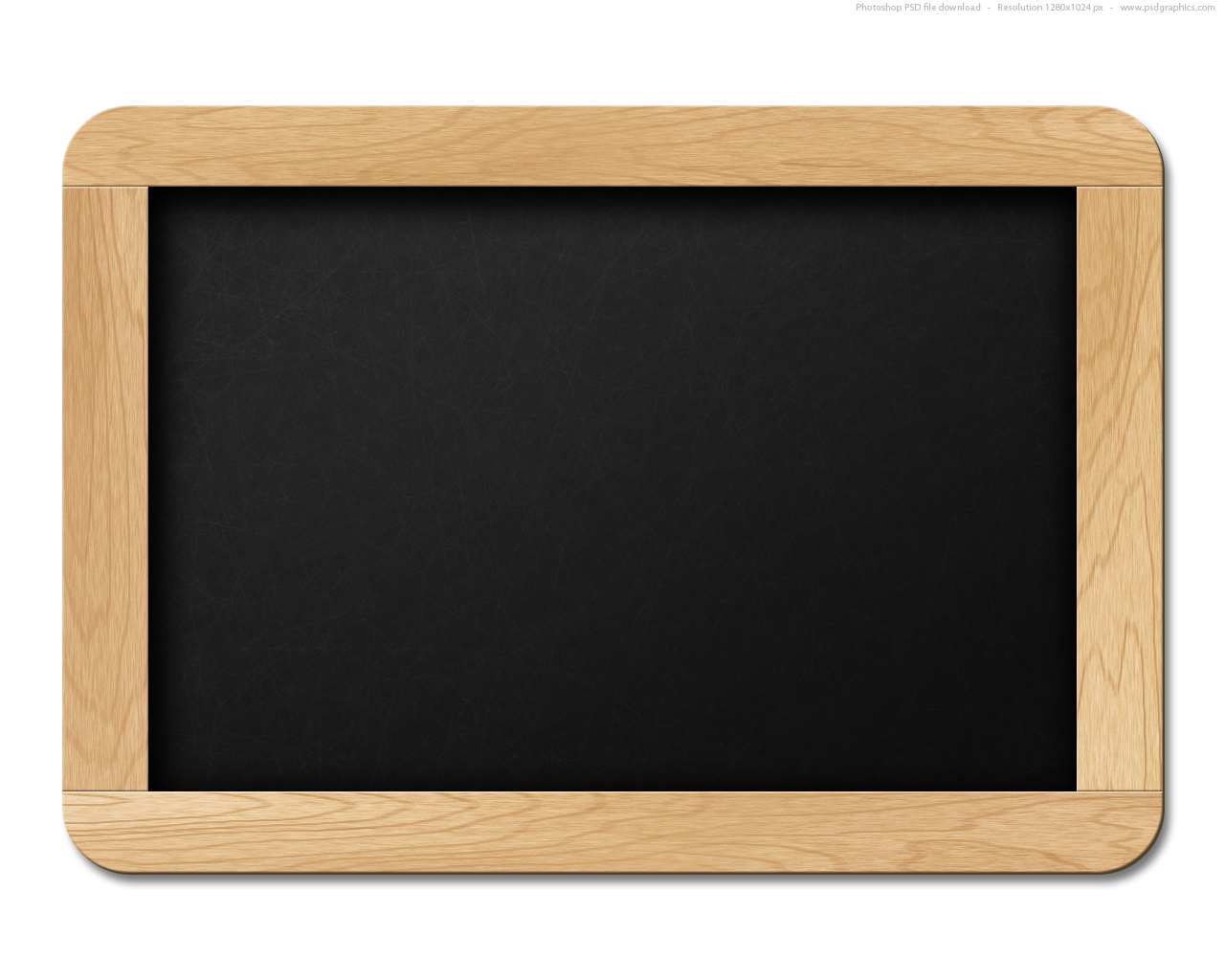 Small black chalkboard, PSD template | PSDGraphics