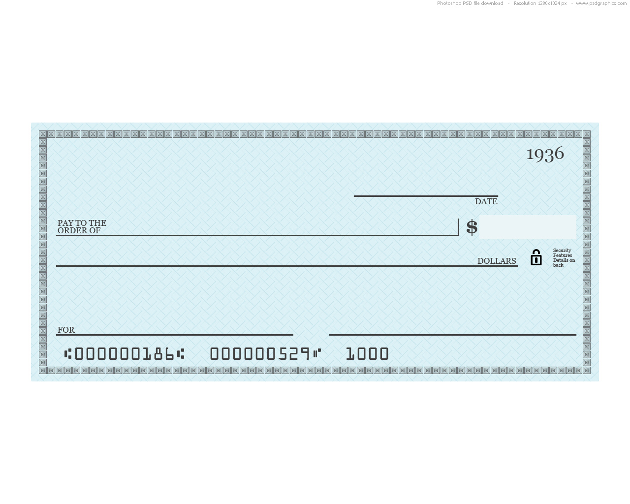 Cars blank check template for Presentation checks template