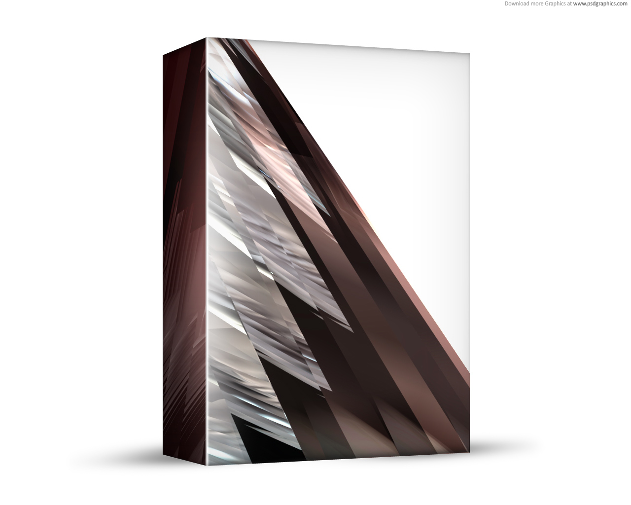 abstract brown 3d box template psd psdgraphics
