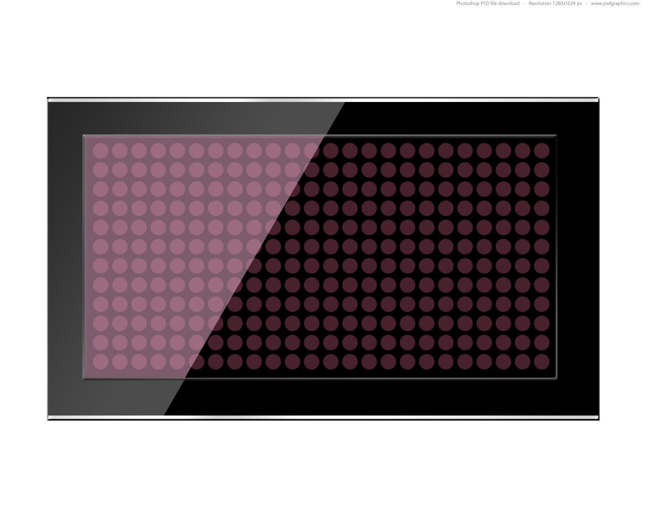 Black led screen PSD template | PSDGraphics