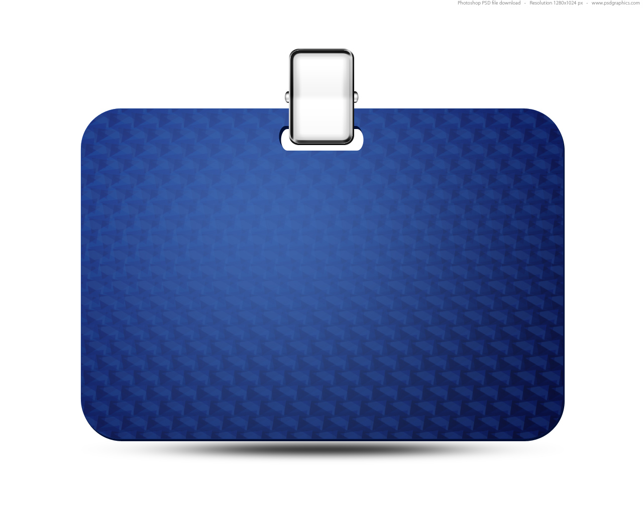 Name tag icon blue identification card PSD – Blank Id Card Template