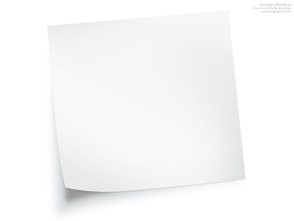 Blank Sticky Paper Sticky Note Blank Paper