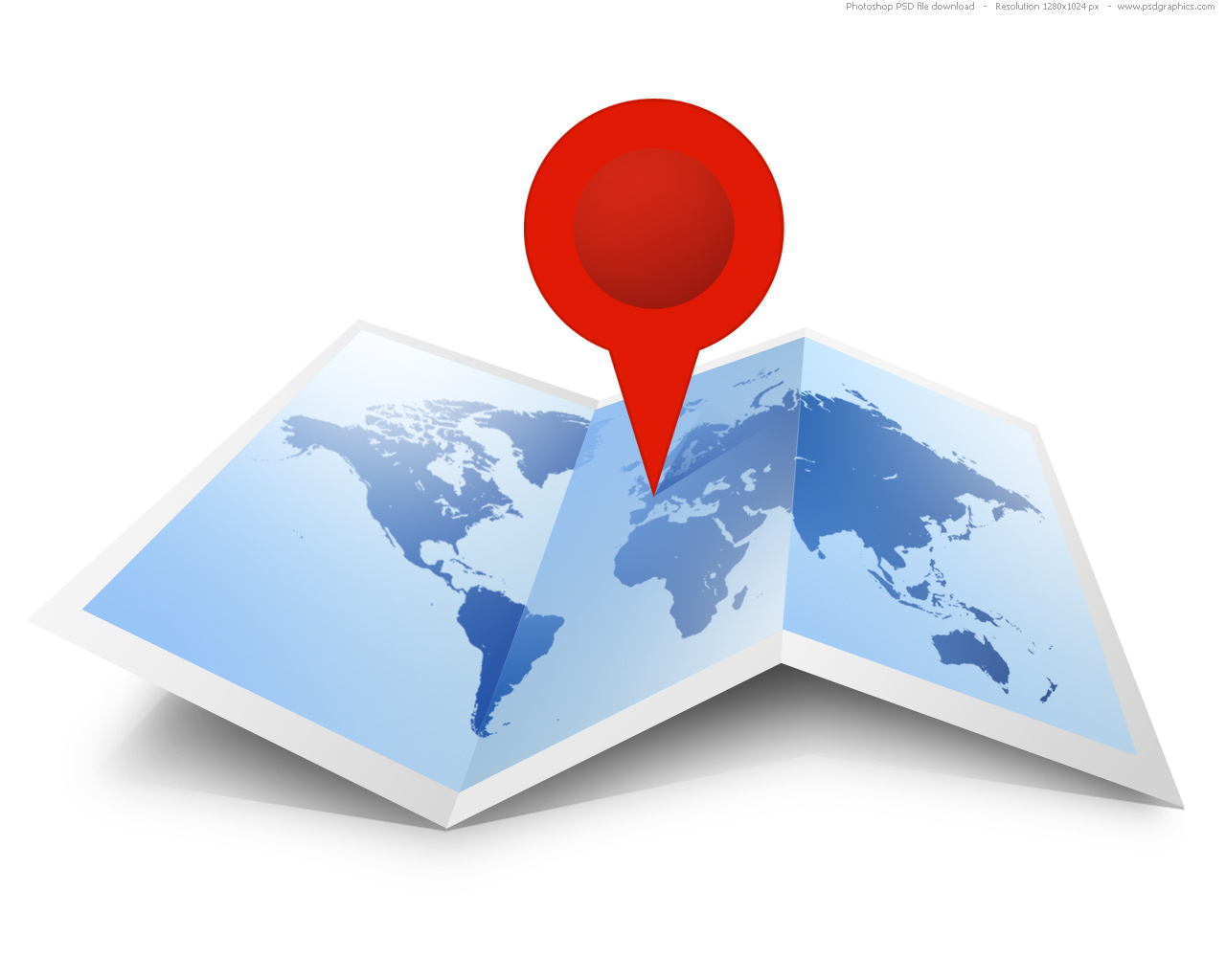 Psd world map icon psdgraphics blue map with red pin world map icon format psd gumiabroncs