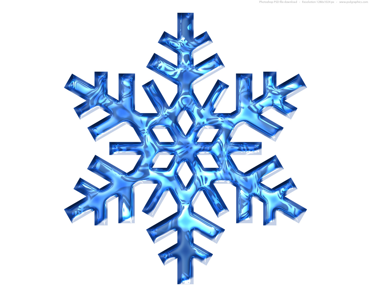 Blue Snowflake Icon Psd picture