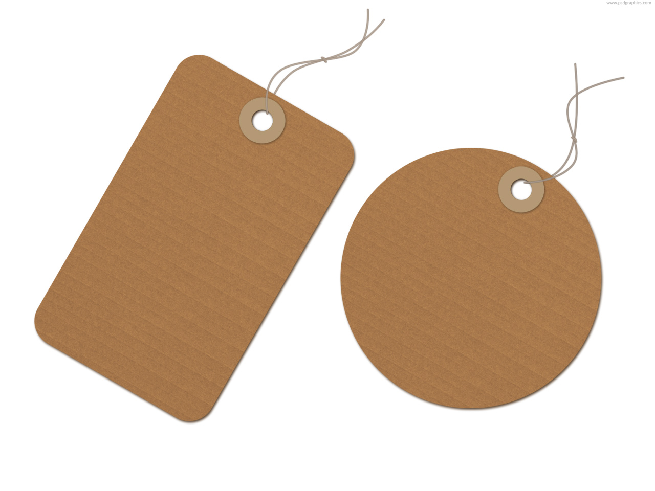 Brown Recycled Paper Tag PSD PSDGraphics