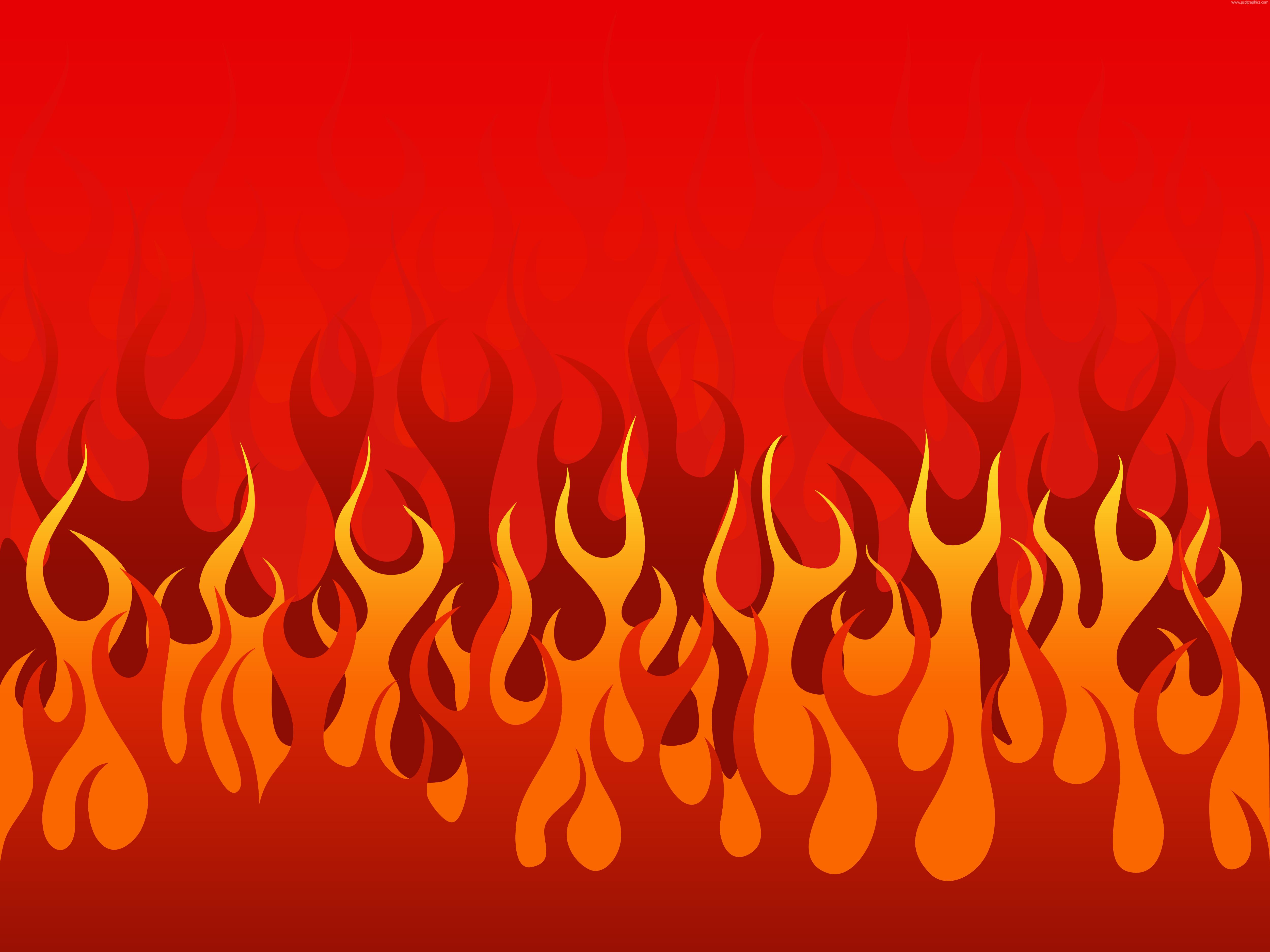 Burning flames illustration