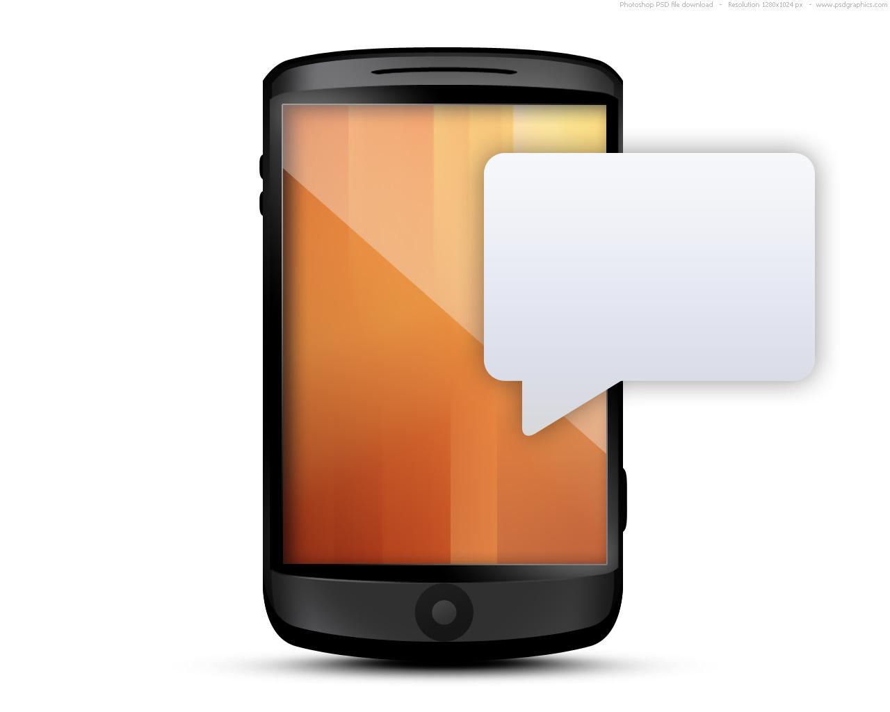 Blank Text Message Bubble Cellphone message