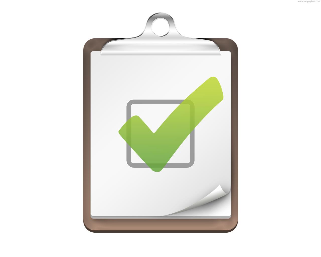 Checklist Icon Psd Psdgraphics