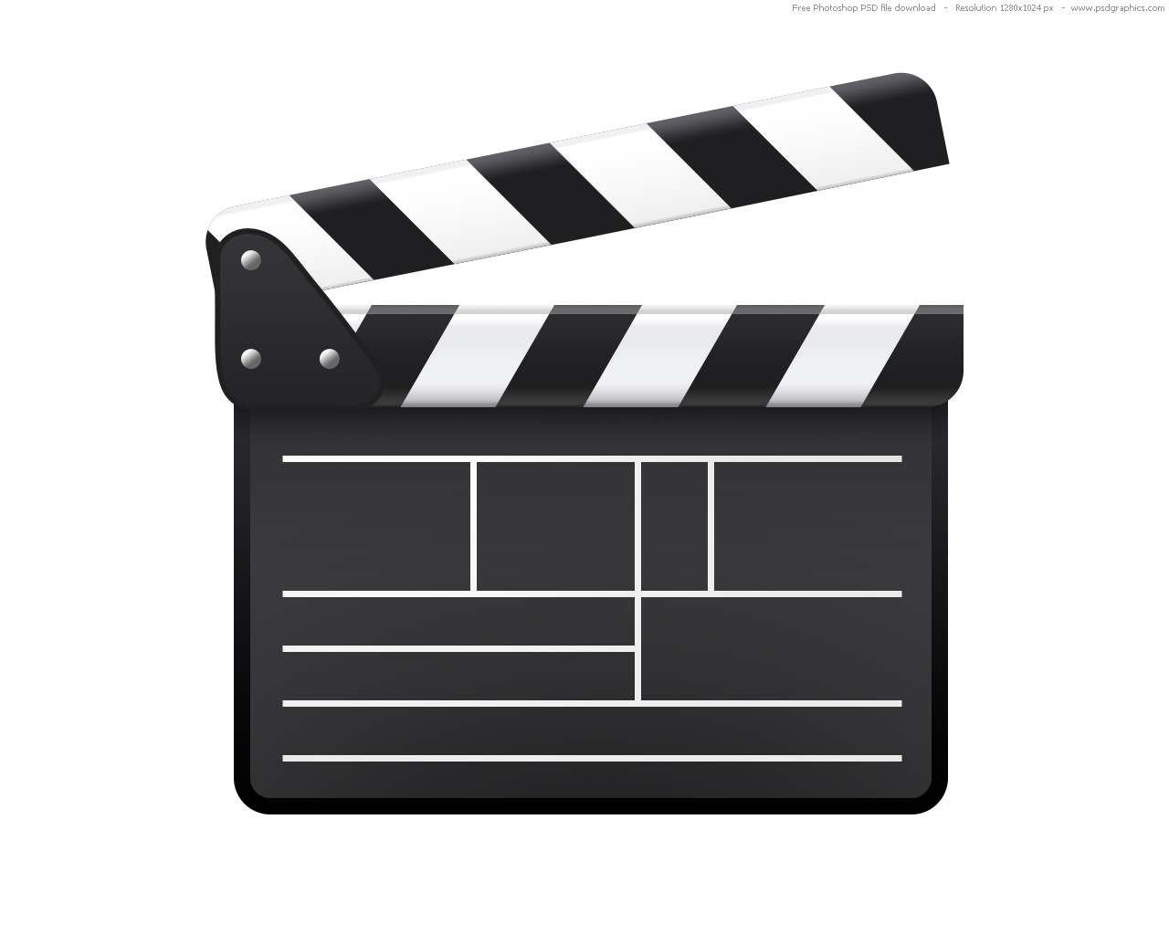 Full size – JPG preview: Clapboard icon