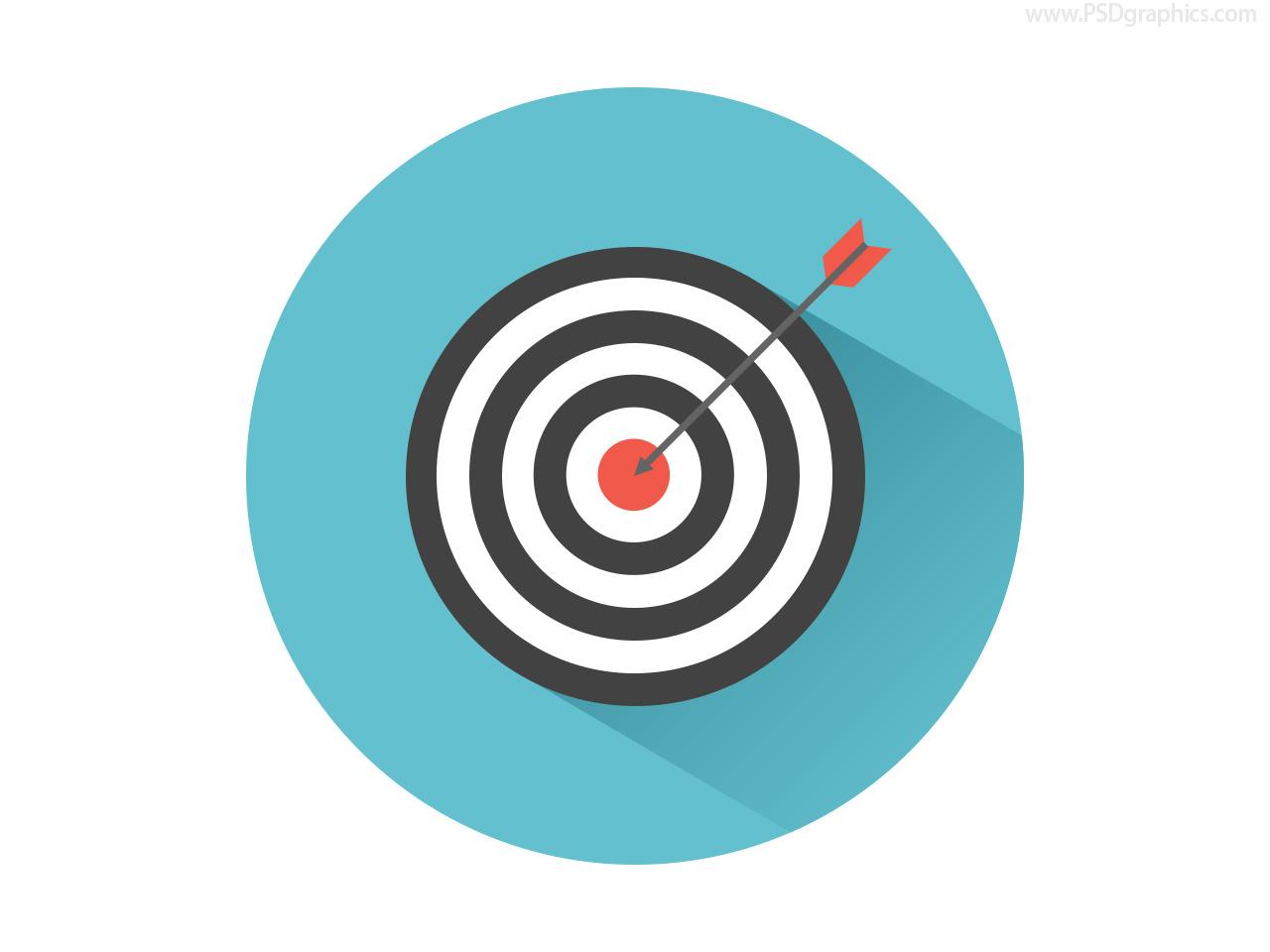 Dart On Target Icon Psd Psdgraphics