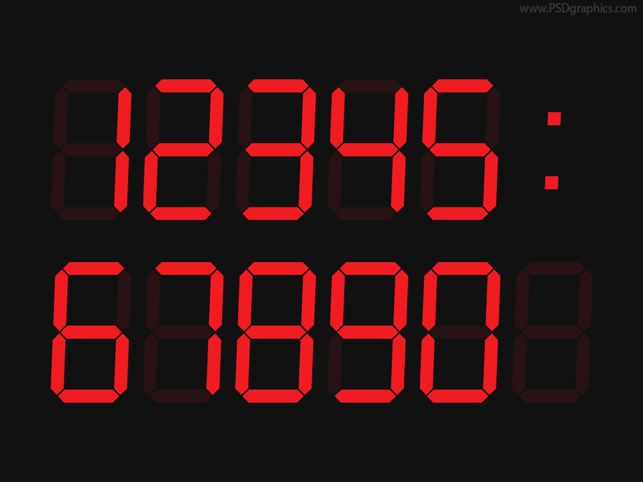 Digital clock font
