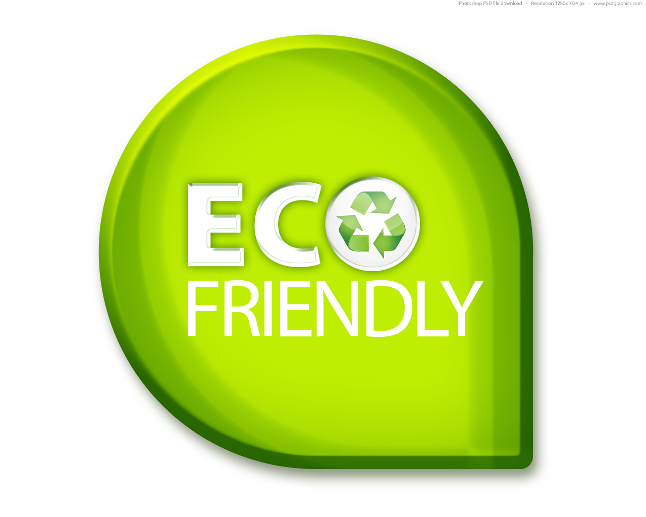 Green eco friendly sign psd psdgraphics for Green products for the home