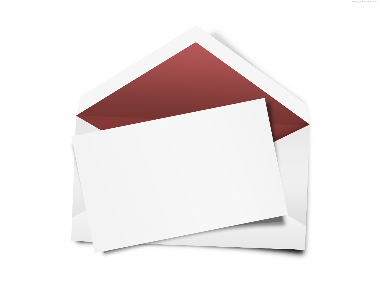 envelope with blank note psd psdgraphics