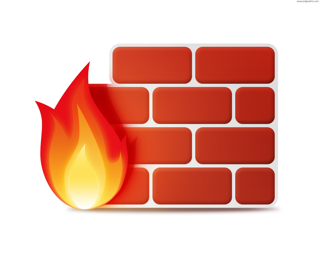Firewall icon (PSD) | PSDGraphics