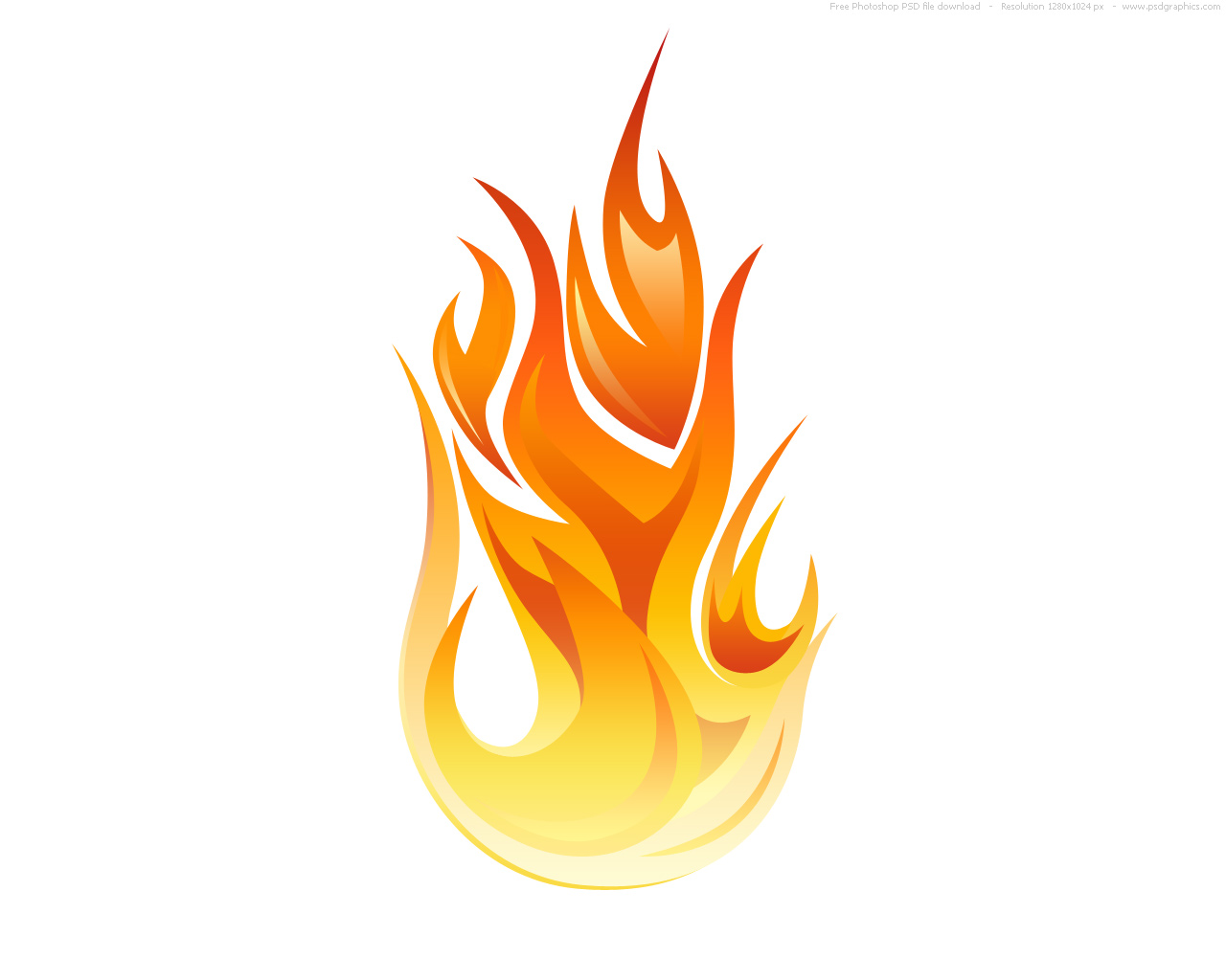 PSD flame icon : PSDGraphics