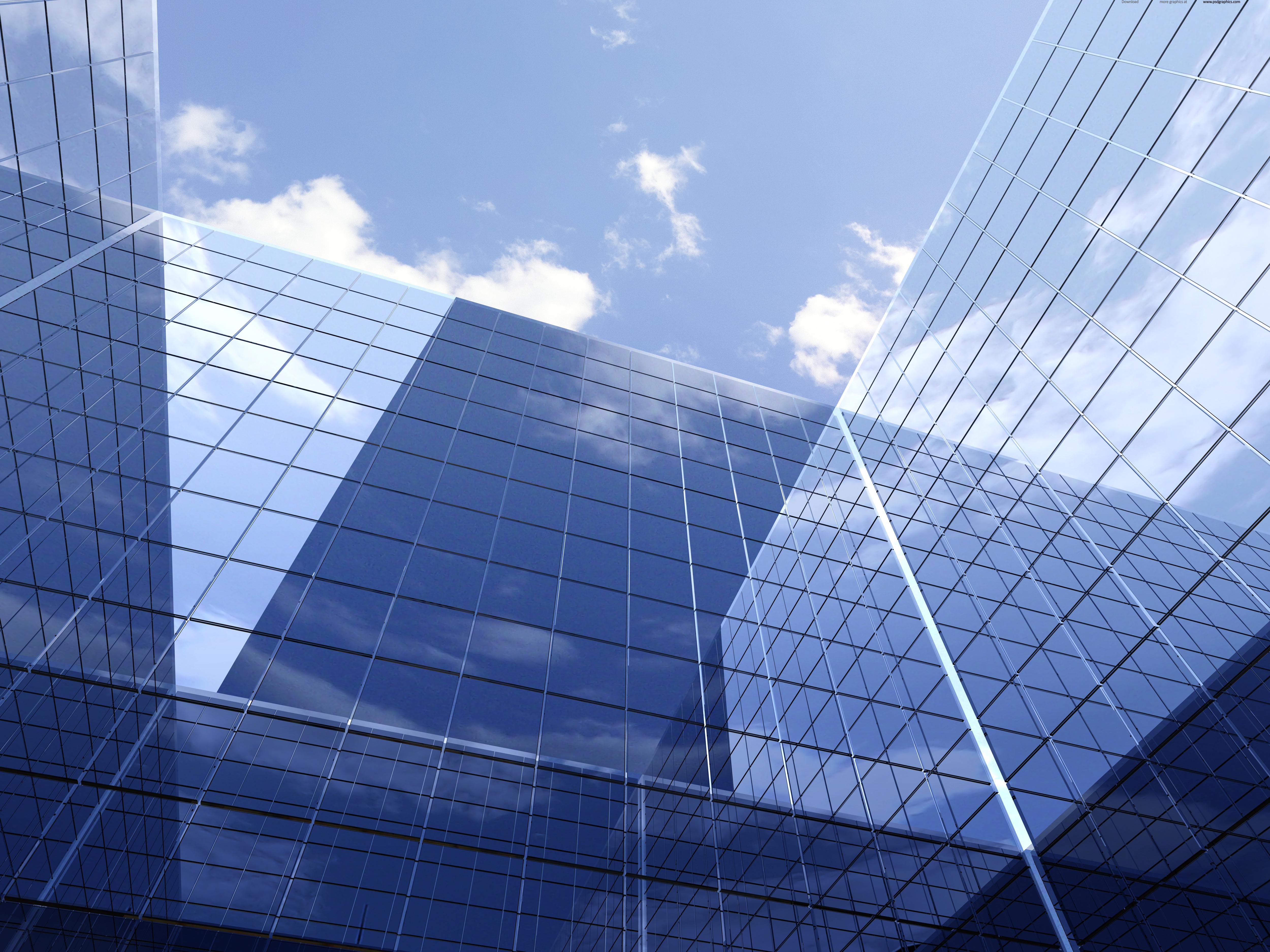 dea8a7dde9d Abstract glass building