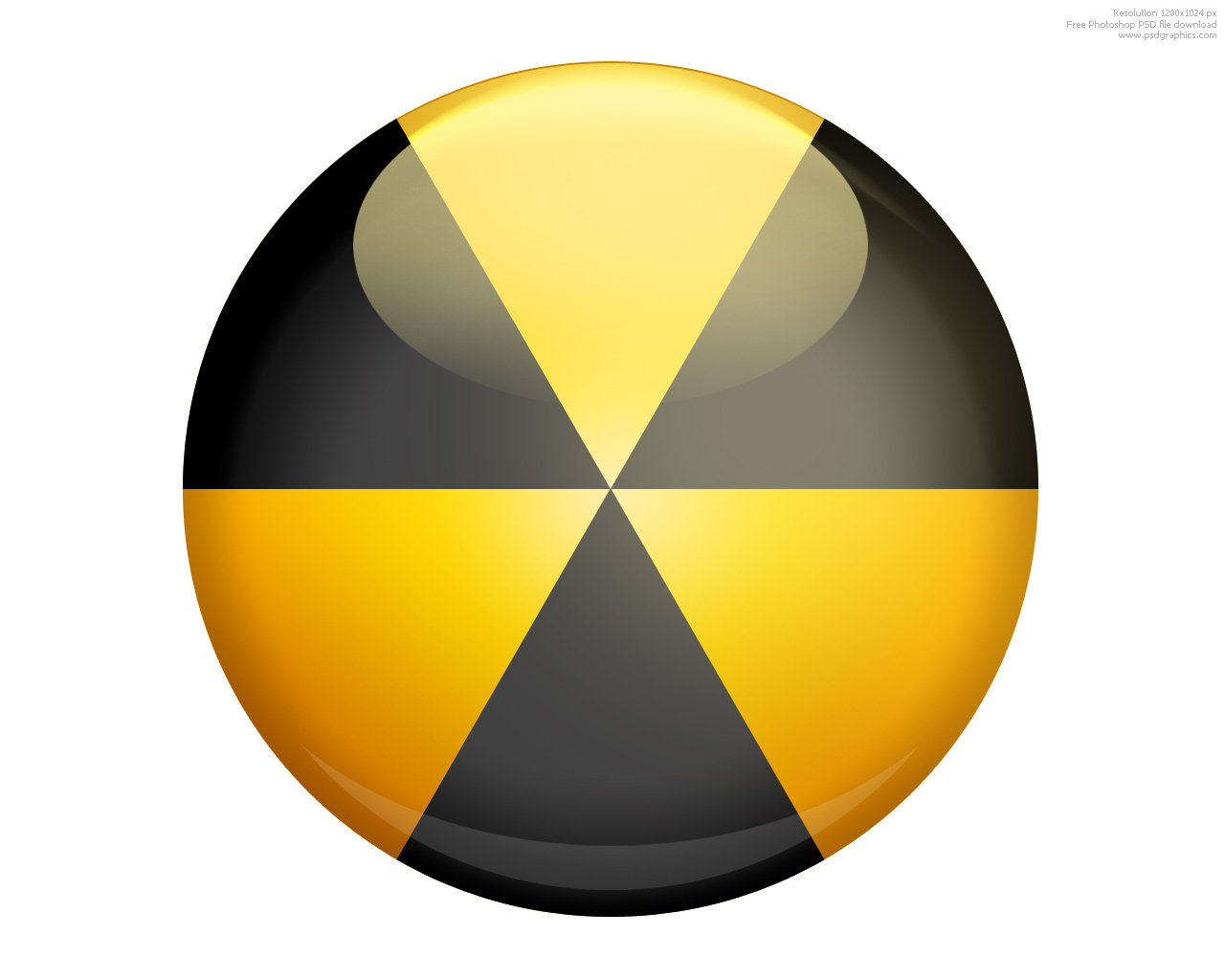 3d nuclear sign psdgraphics 3d radiation sign and psd danger icon biocorpaavc Gallery