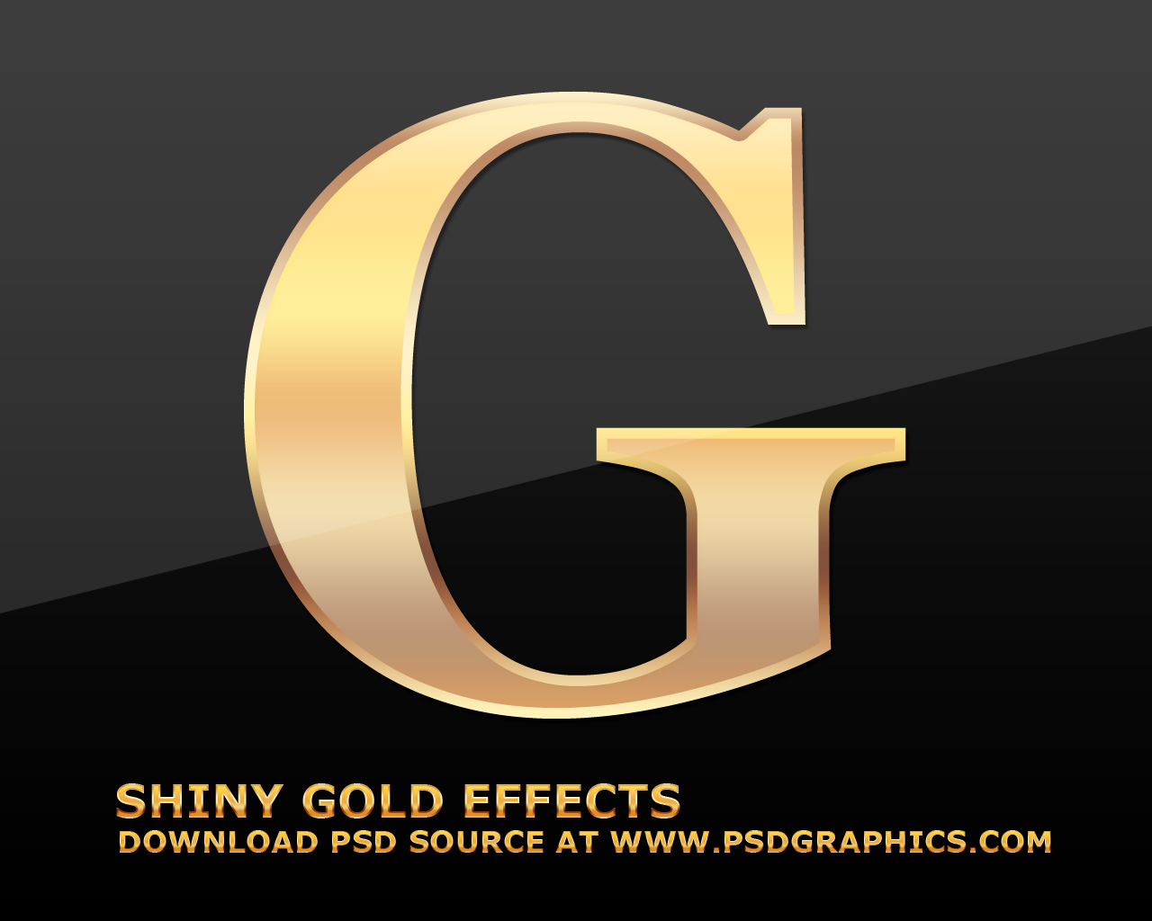 Gold text effects in photoshop psdgraphics gold letter effect baditri Choice Image