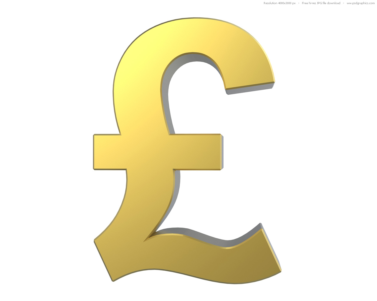 Gold Pound Symbol Psdgraphics