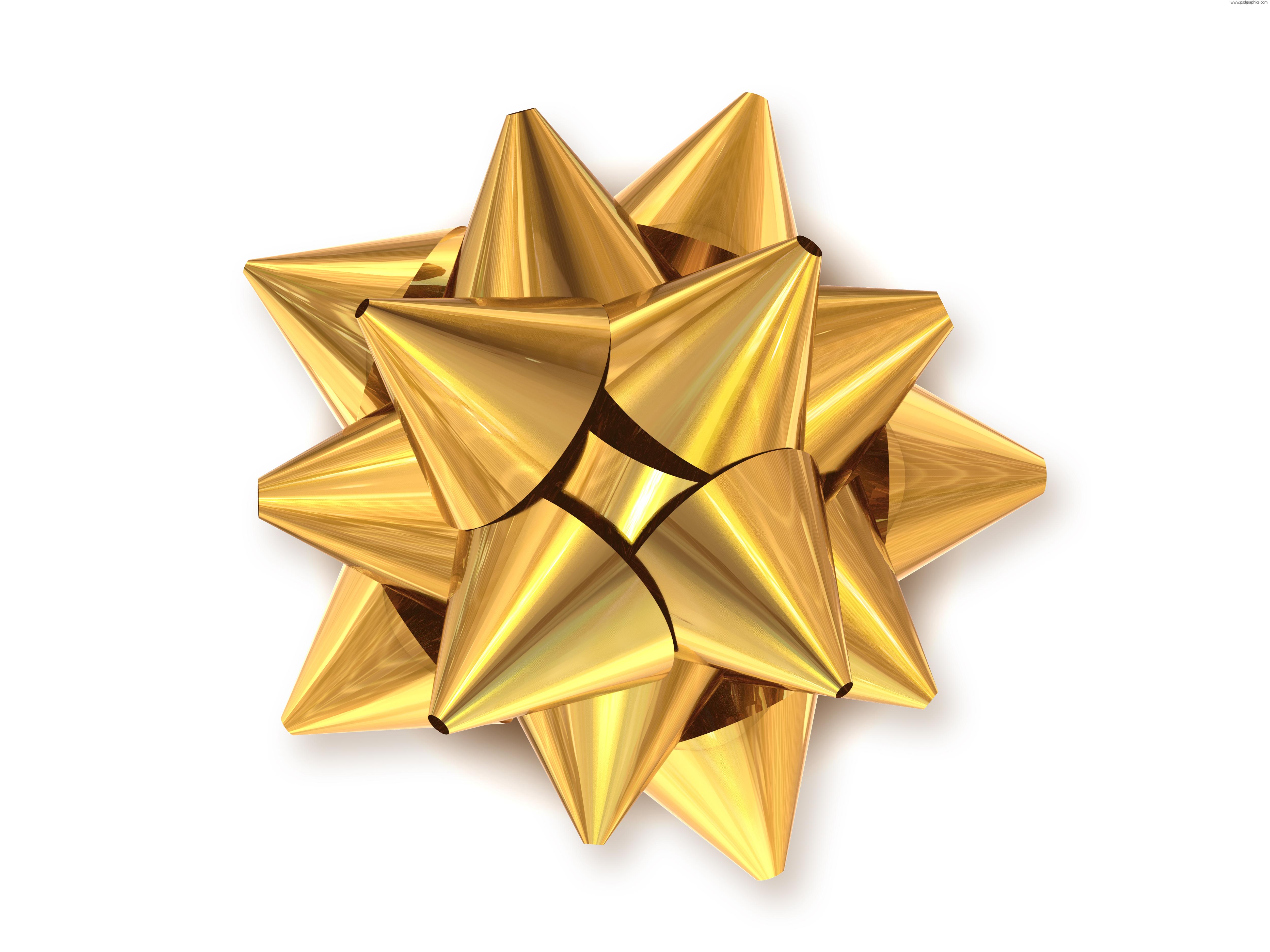 golden bow decoration psdgraphics