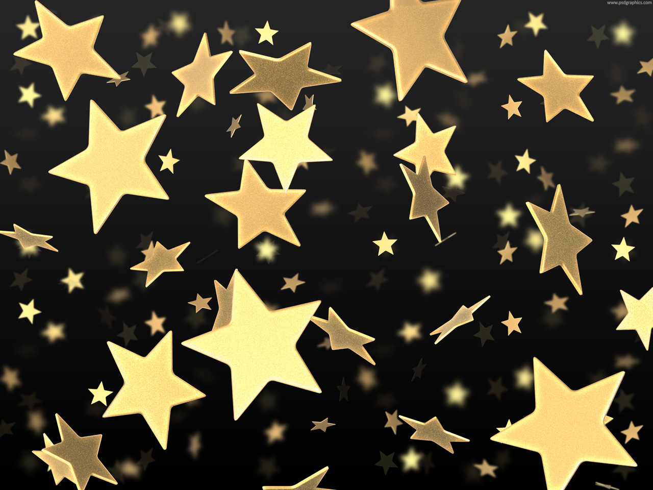 Black and Gold Stars