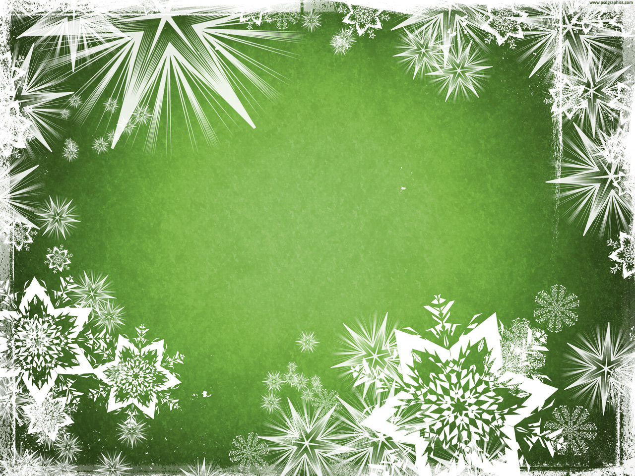 Green Christmas background | PSDGraphics