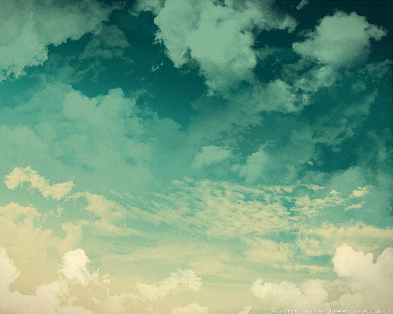 Large preview (1280x1024px): Green sky background