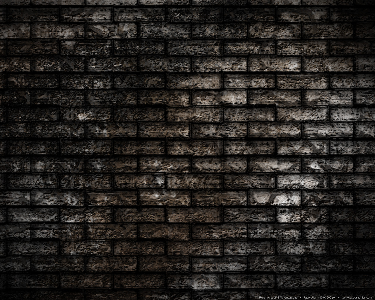 Grunge brick wall background psdgraphics for Wallpaper images for house walls